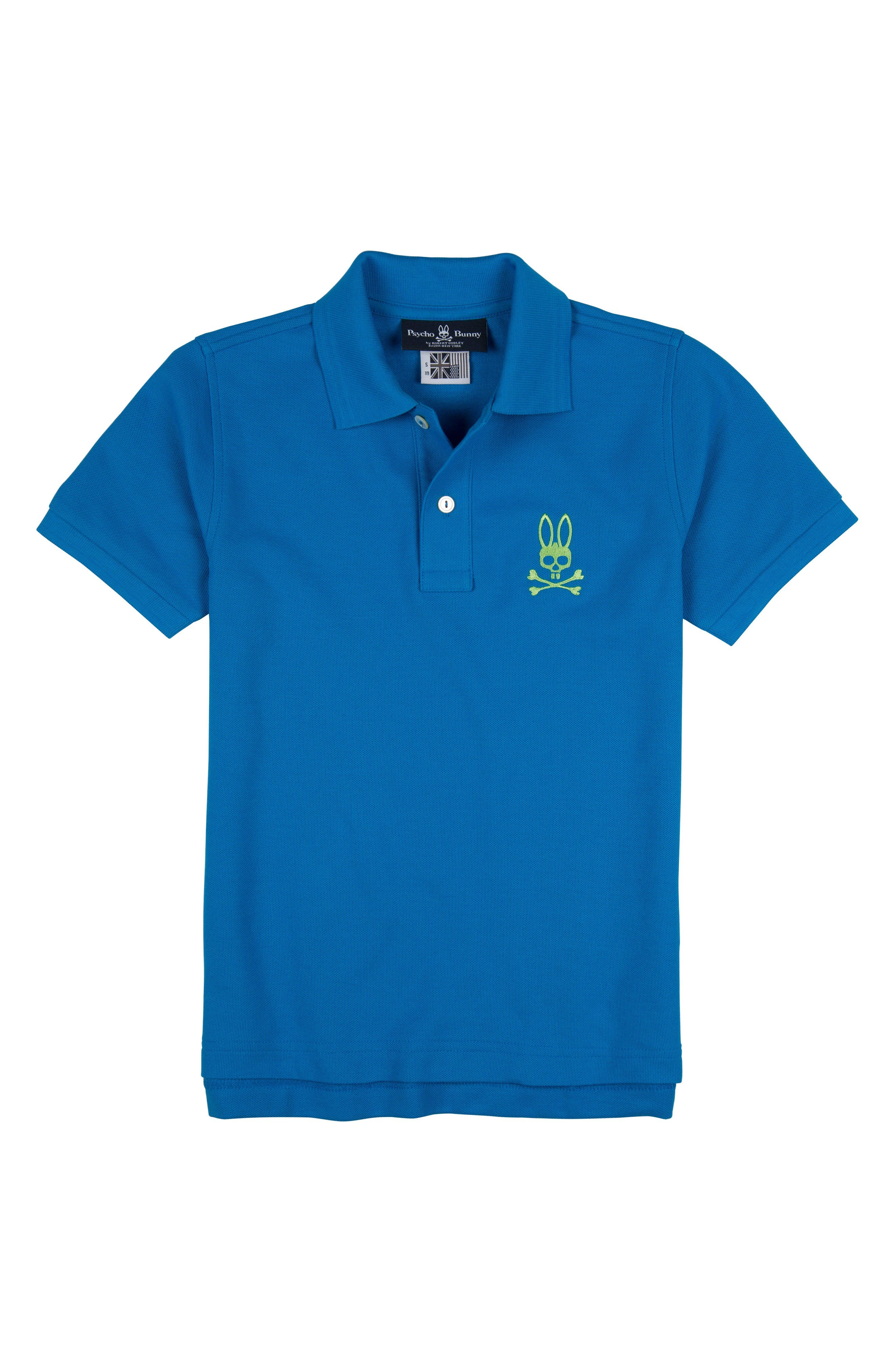 Psycho Bunny Pima Cotton Polo (Little Boys & Big Boys)