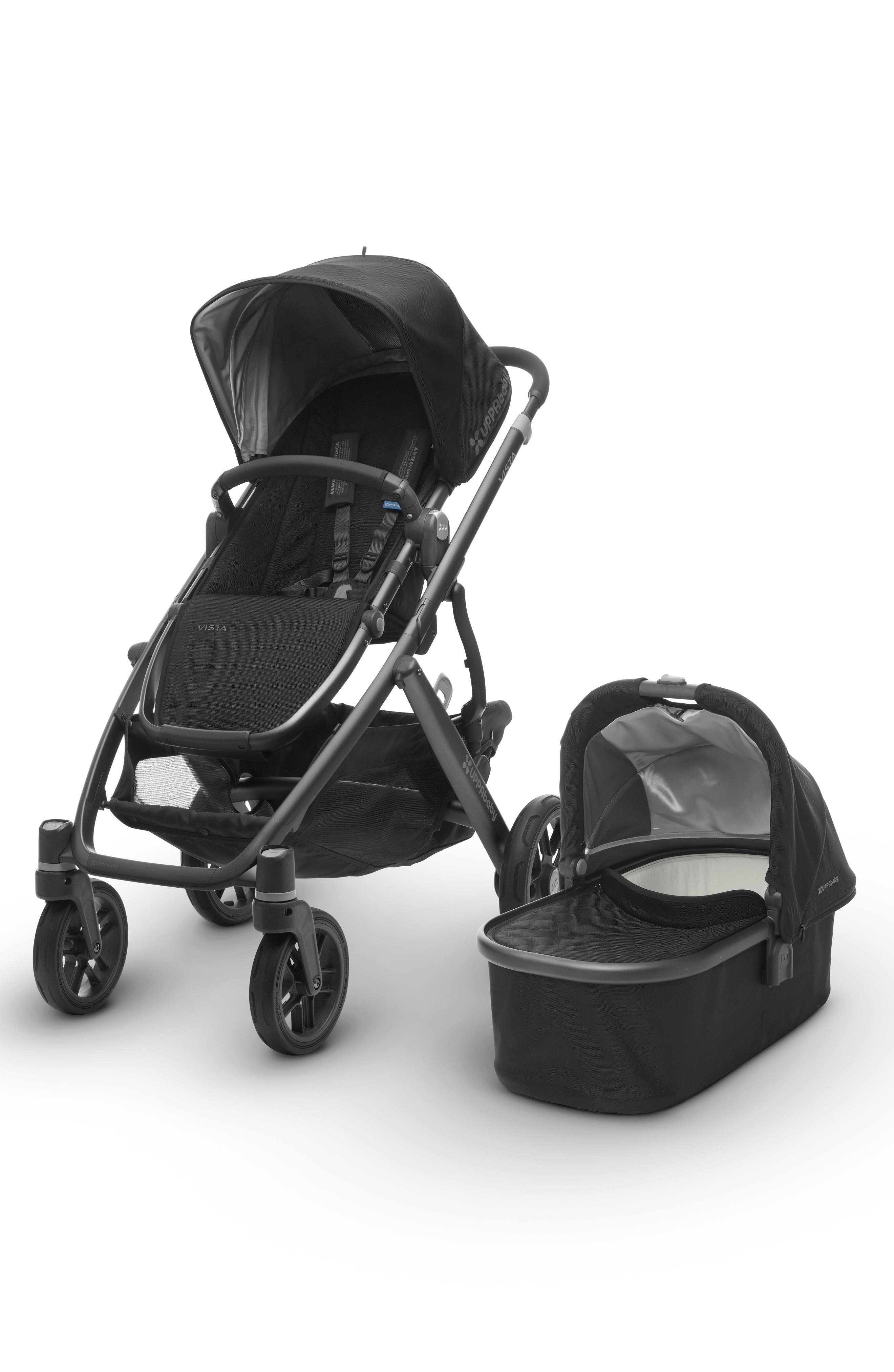 Alternate Image 1 Selected - UPPAbaby 2017 VISTA Aluminum Frame Convertible Stroller with Bassinet & Toddler Seat