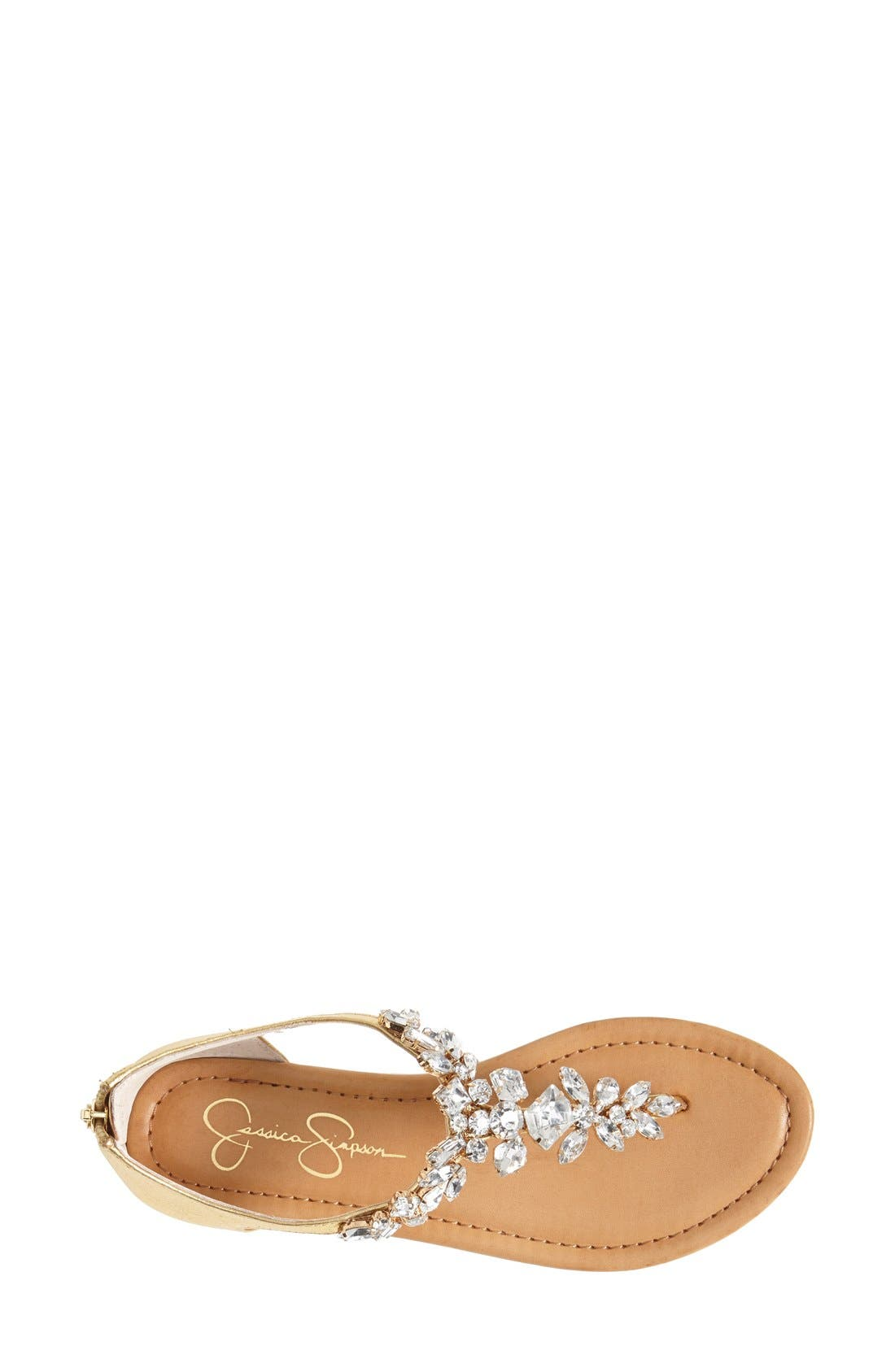 Alternate Image 3  - Jessica Simpson 'Radient' Crystal Embellished Sandal (Women)