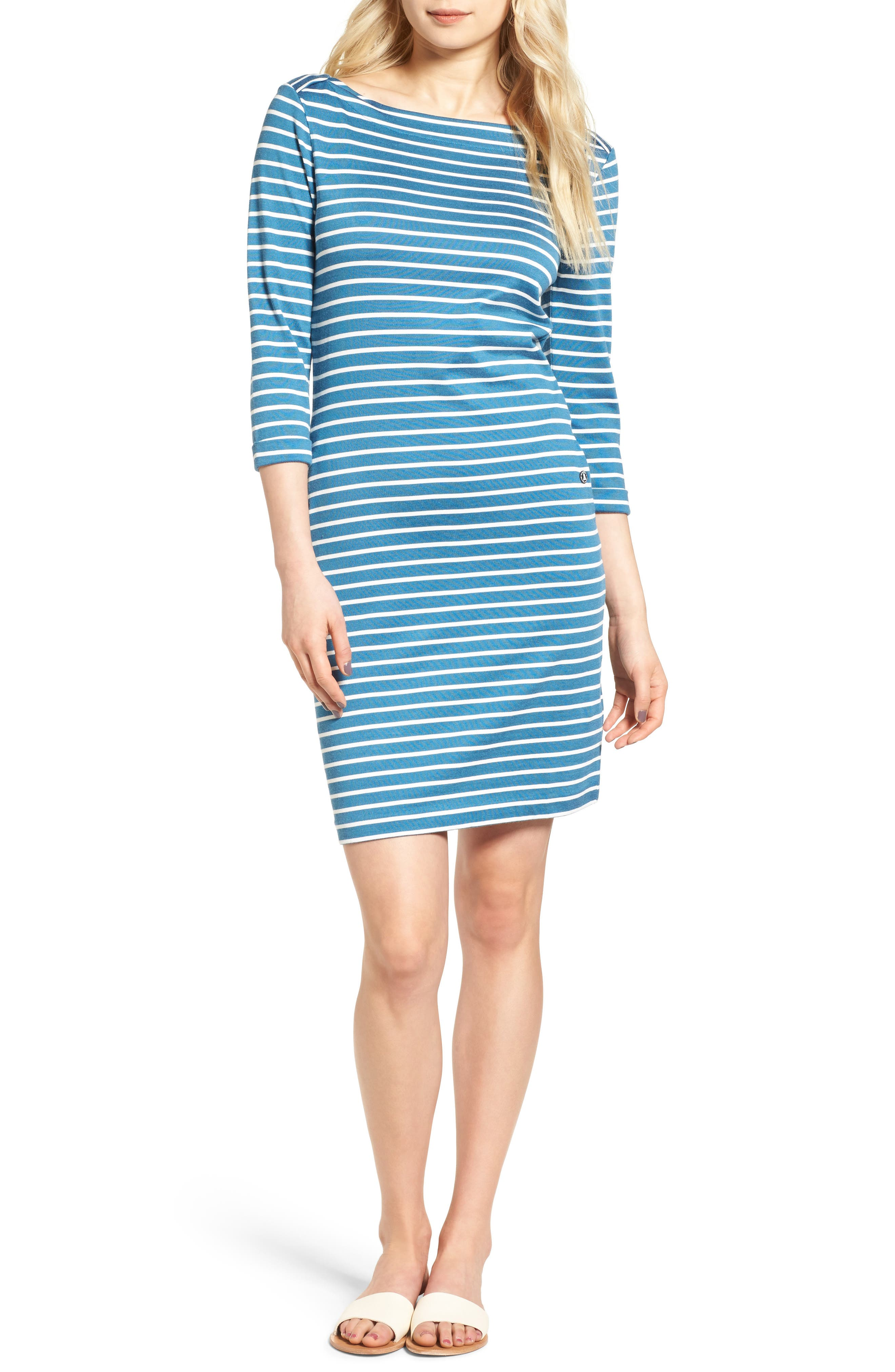 Main Image - Barbour Wharf Stripe Jersey Dress