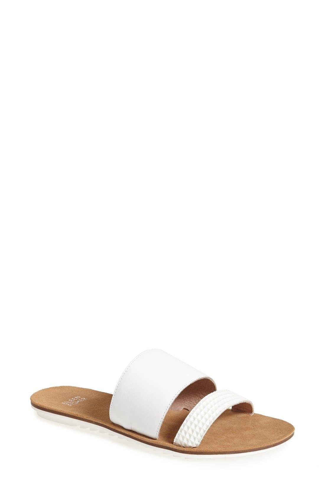 Alternate Image 1 Selected - Eileen Fisher 'Folly' Leather Sandal (Women)