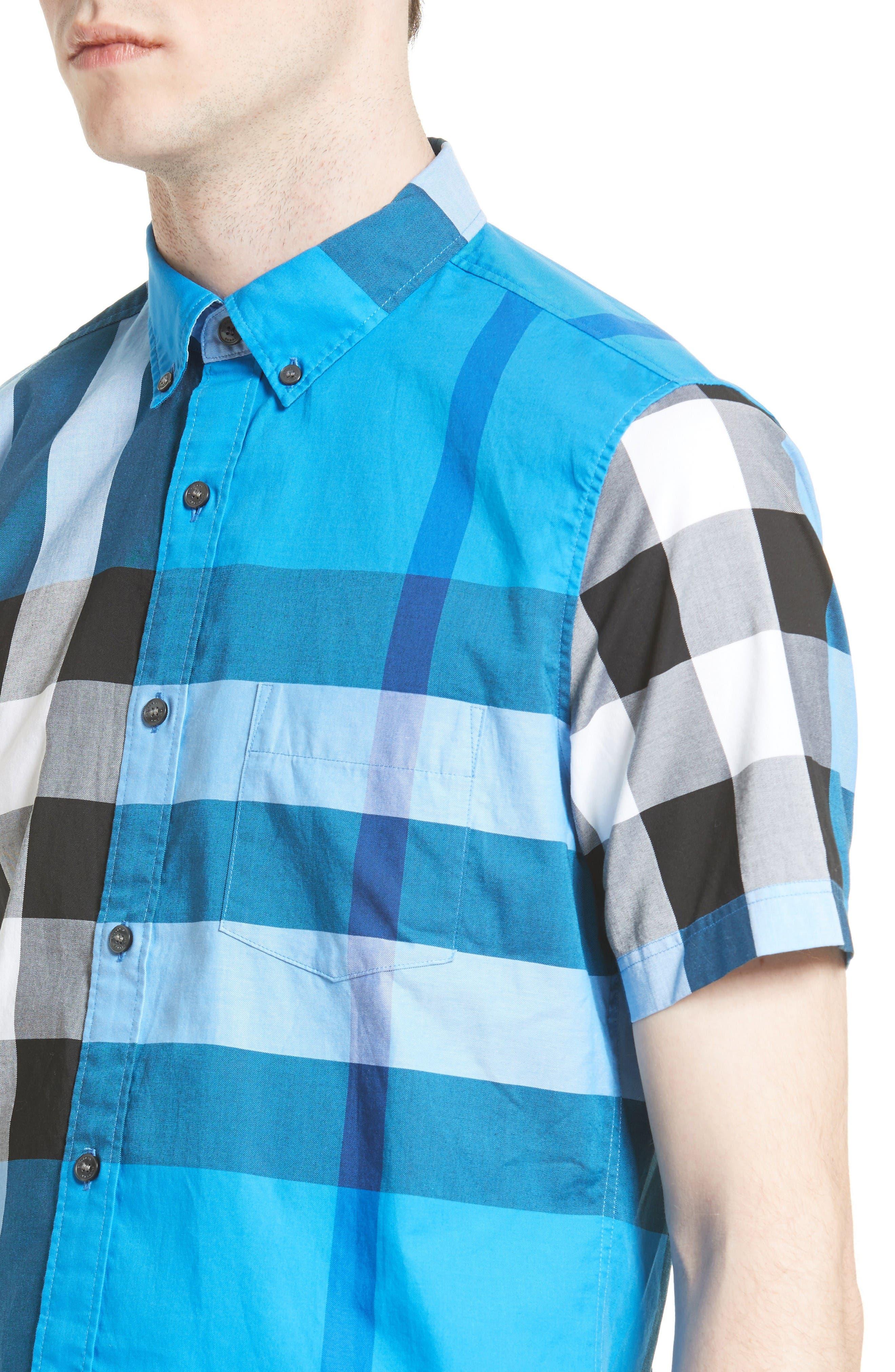 Alternate Image 4  - Burberry Fred Check Sport Shirt