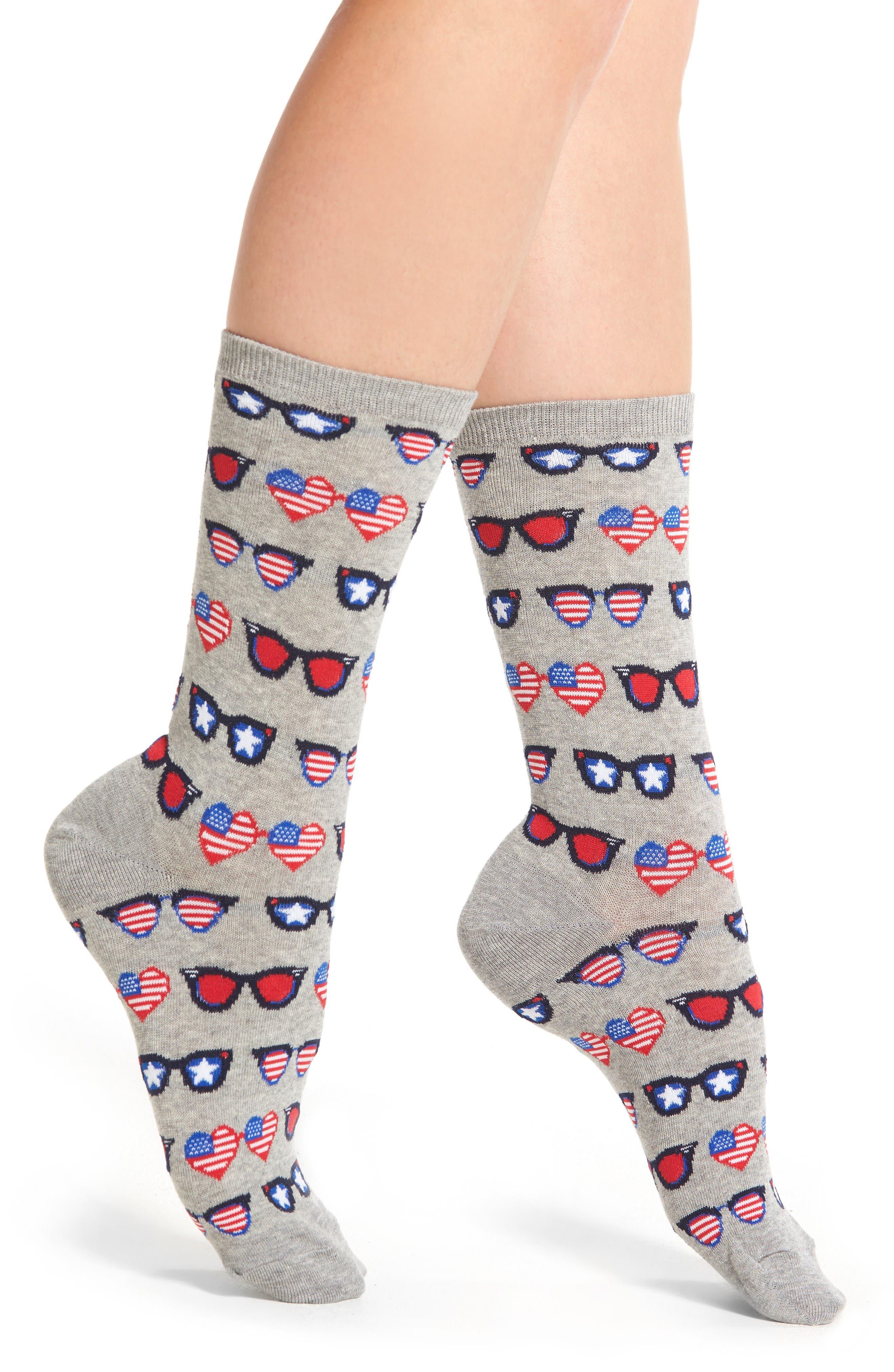 Hot Sox Patriotic Sunglasses Crew Socks