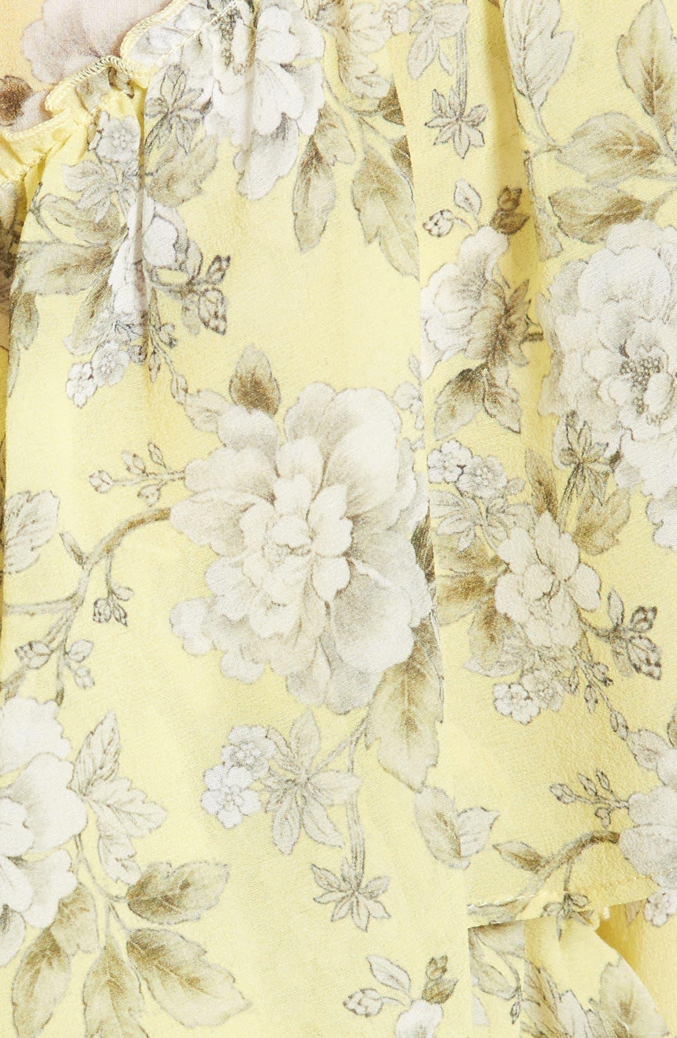 Alternate Image 5  - Robert Rodriguez Ruffle Floral Print Silk Blouse