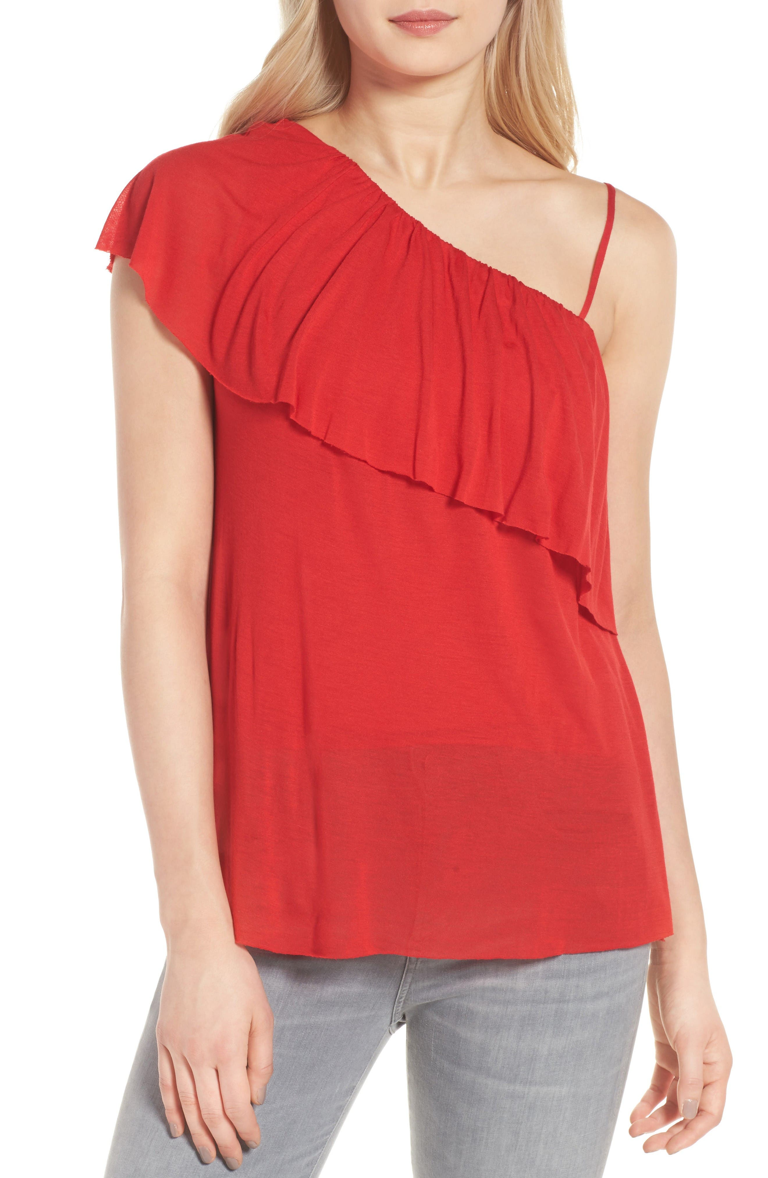 Bailey 44 Cha Cha One Shoulder Top