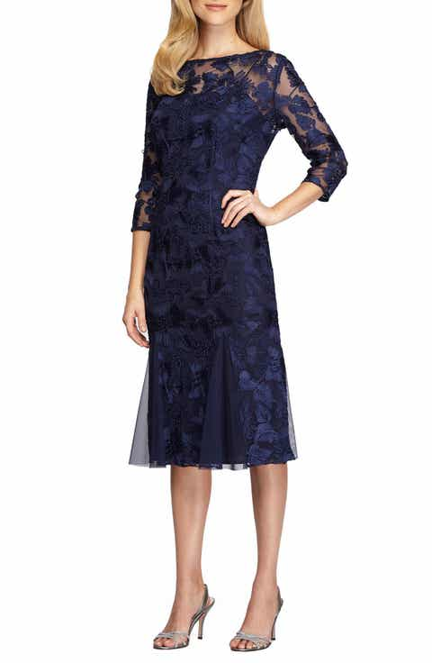 Alex Evenings Lace Midi Dress (Regular   Petite)