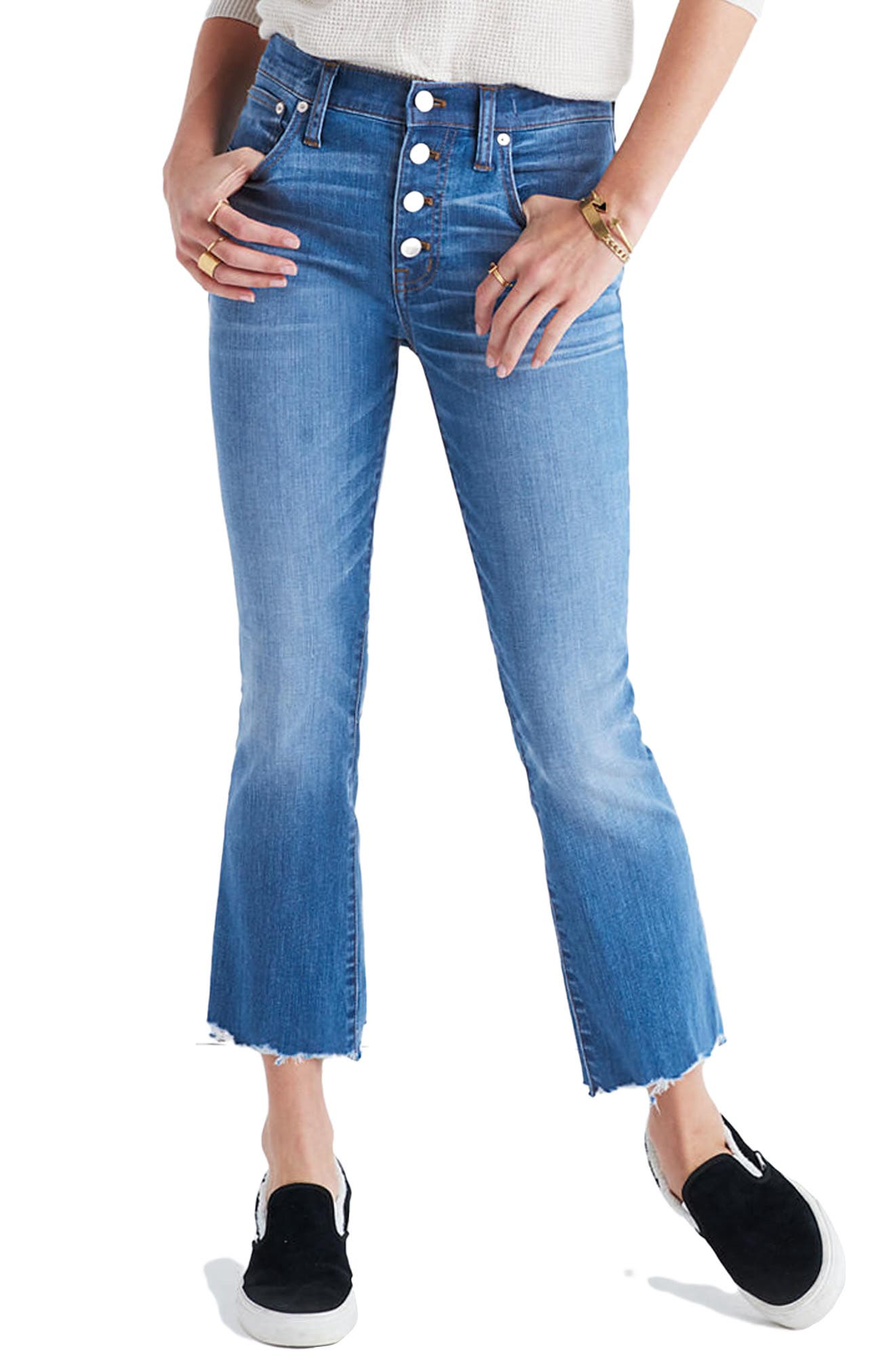 Alternate Image 1 Selected - Madewell Cali Demi Boot Jeans (Fenton Wash)