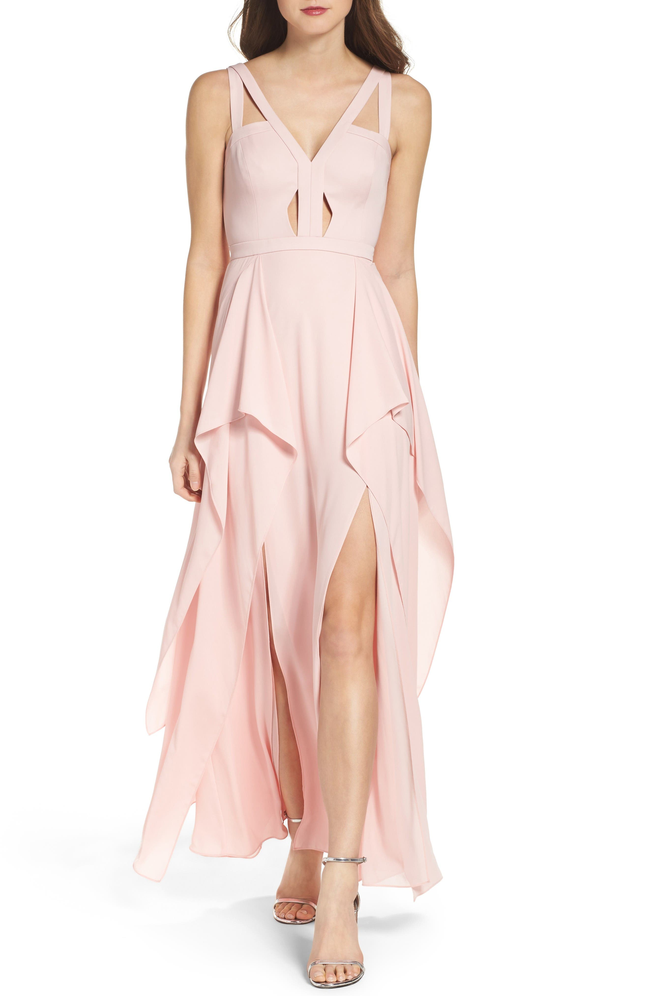 Alternate Image 1 Selected - BCBGMAXAZRIA 'Juliana' Georgette Fit & Flare Gown