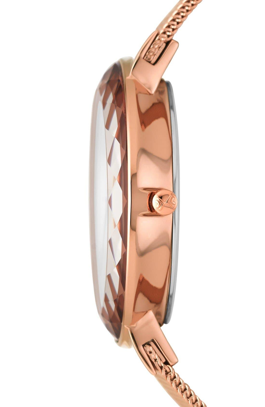 Alternate Image 3  - Skagen 'Leonora' Faceted Glass Bezel Watch, 34mm