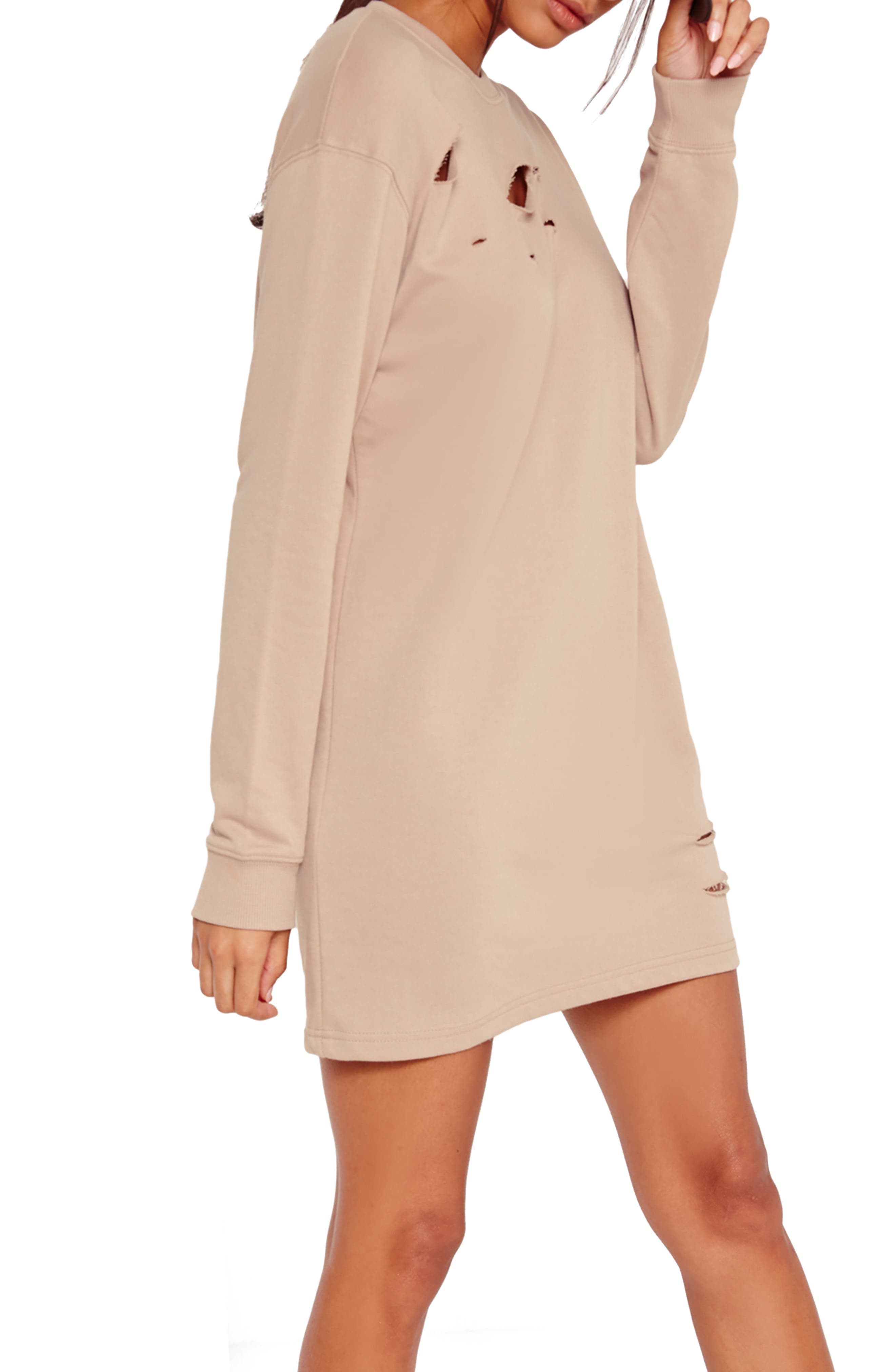 Alternate Image 3  - Missguided Ripped Oversize Knit Dress