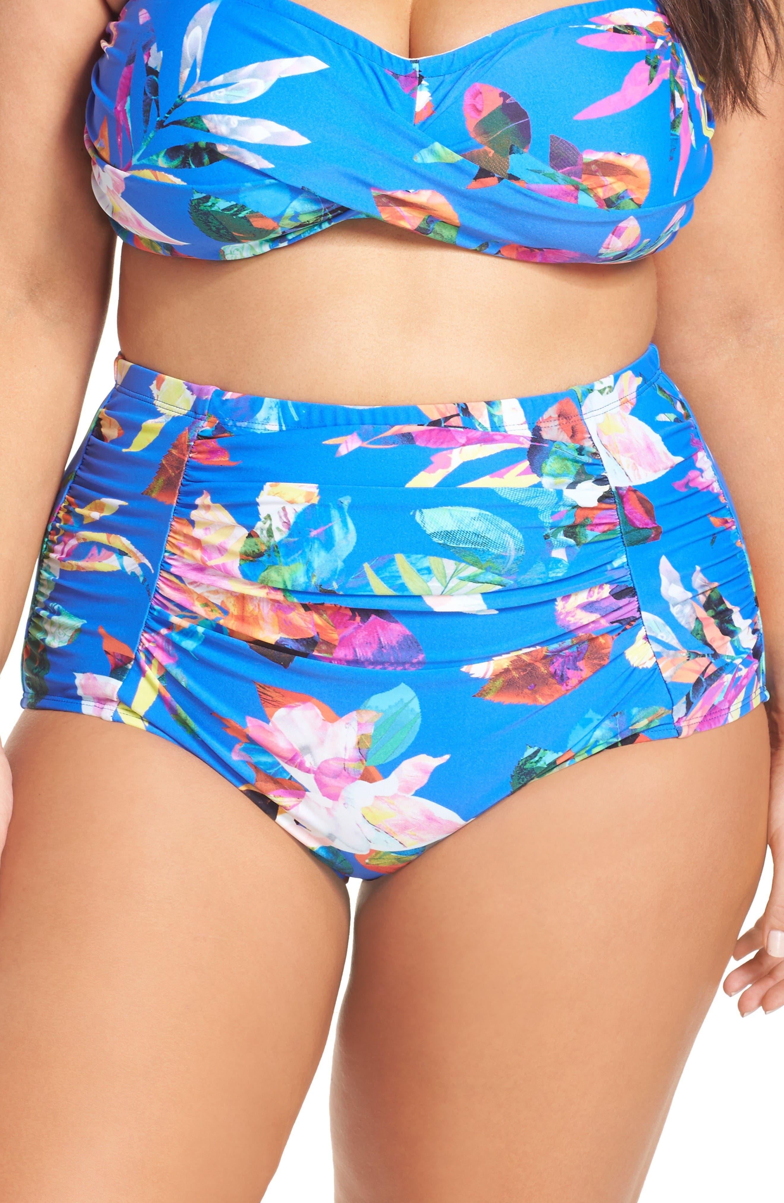 La Blanca Havana High Waist Bikini Bottoms (Plus Size)