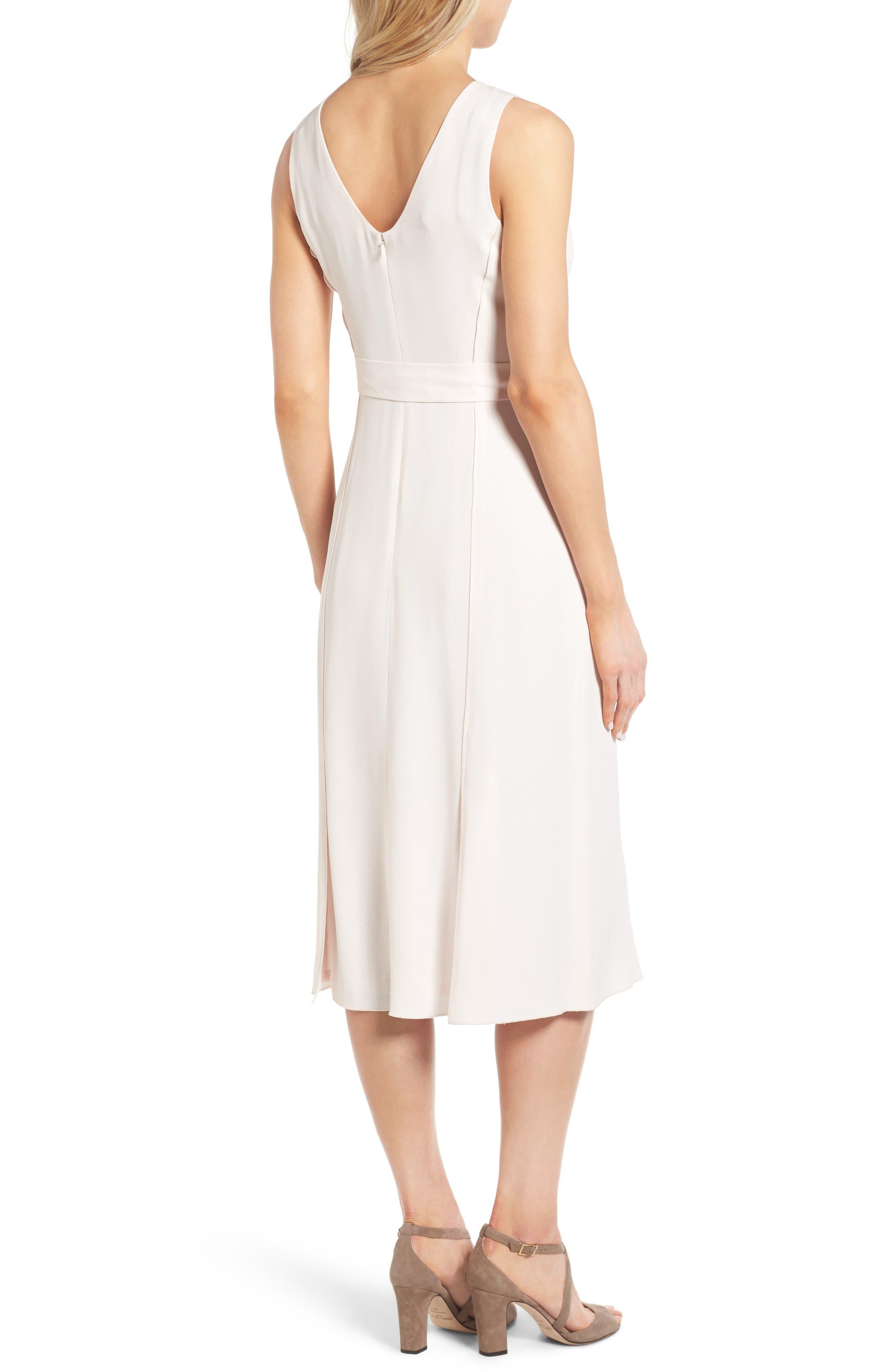 Alternate Image 2  - Classiques Entier® Italian Crepe Midi Dress
