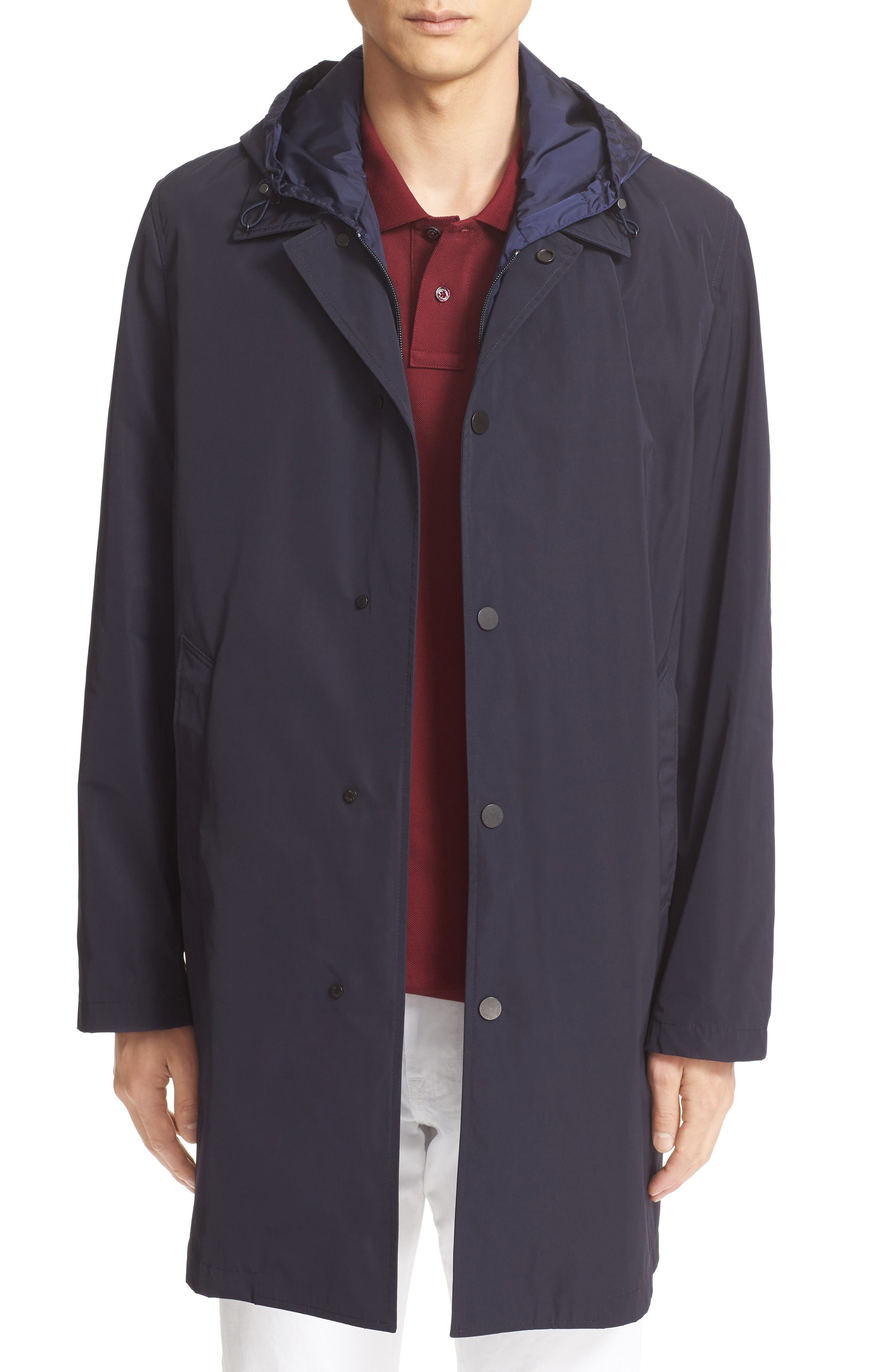 MONCLER Reynaud Hooded Bib Inset Raincoat
