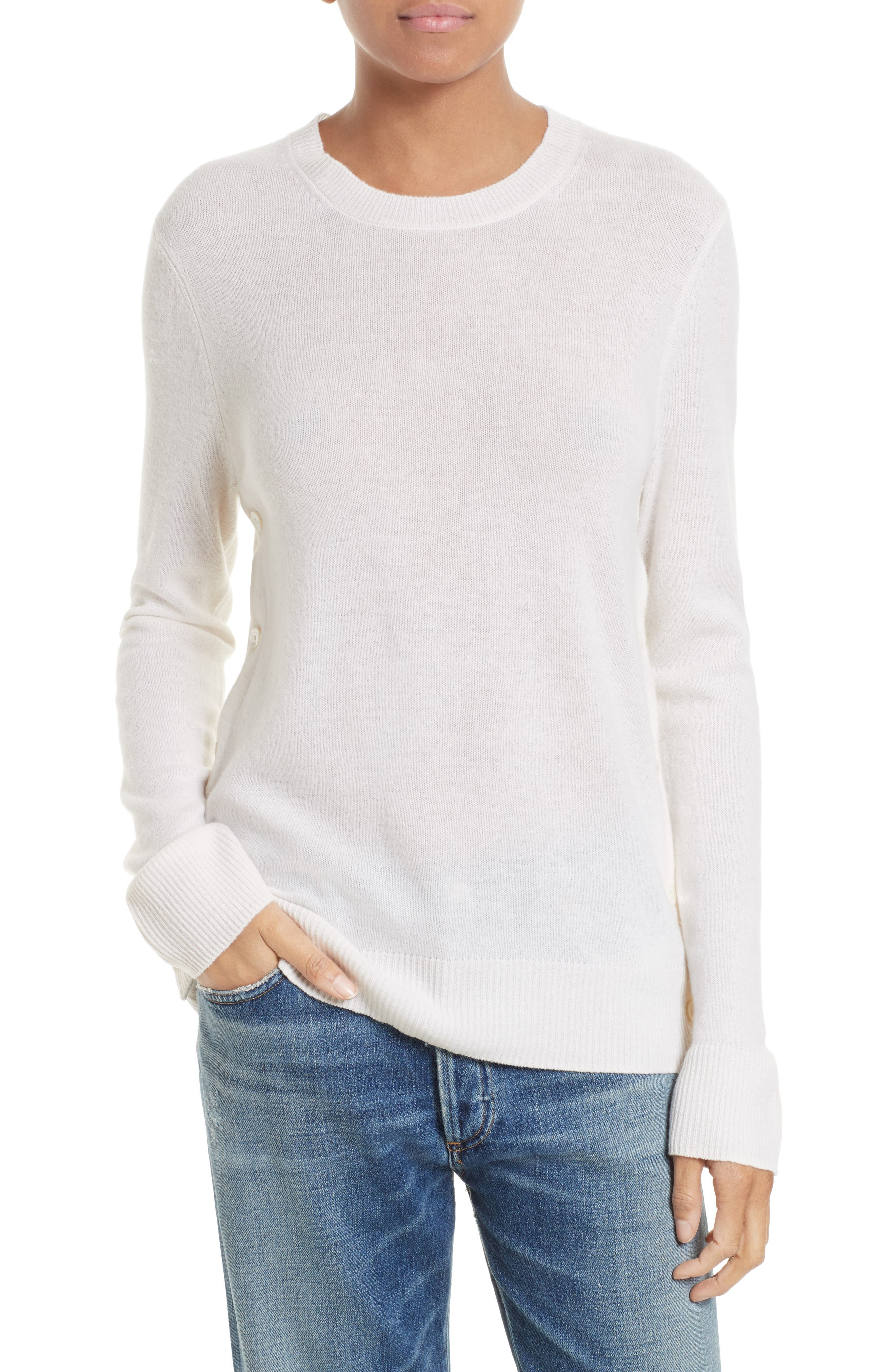 Equipment Jenny Cashmere Side Button Sweater