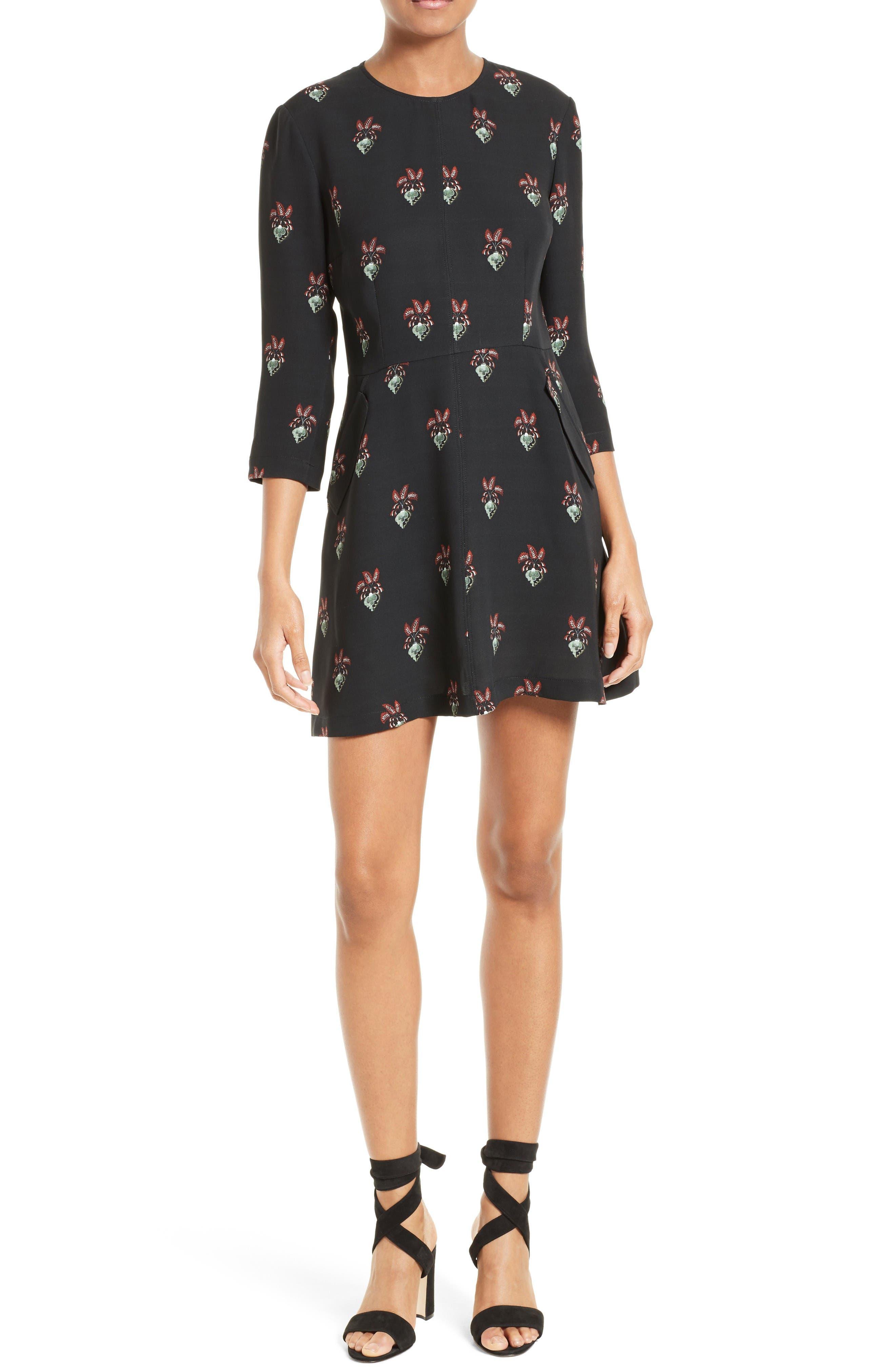 A.L.C. Terry Floral Print Dress