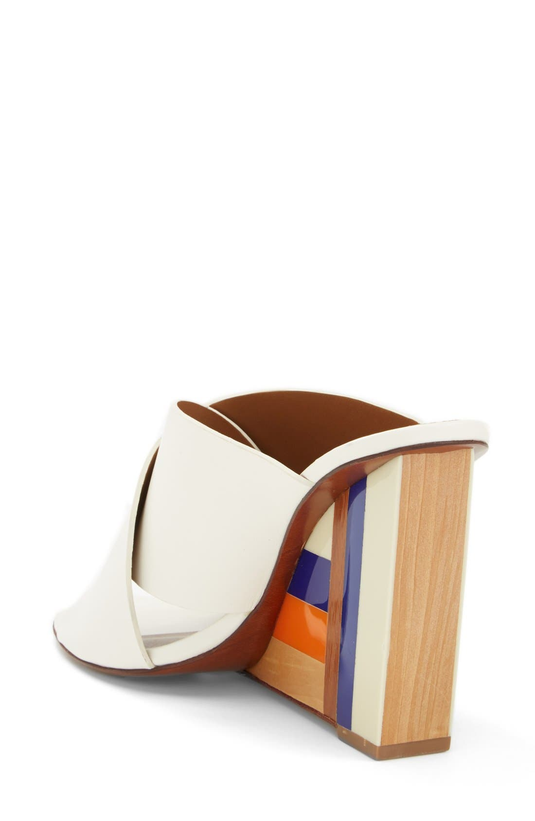 Alternate Image 2  - Tory Burch 'Cube' Leather Crossover Strap Wedge Sandal (Women)