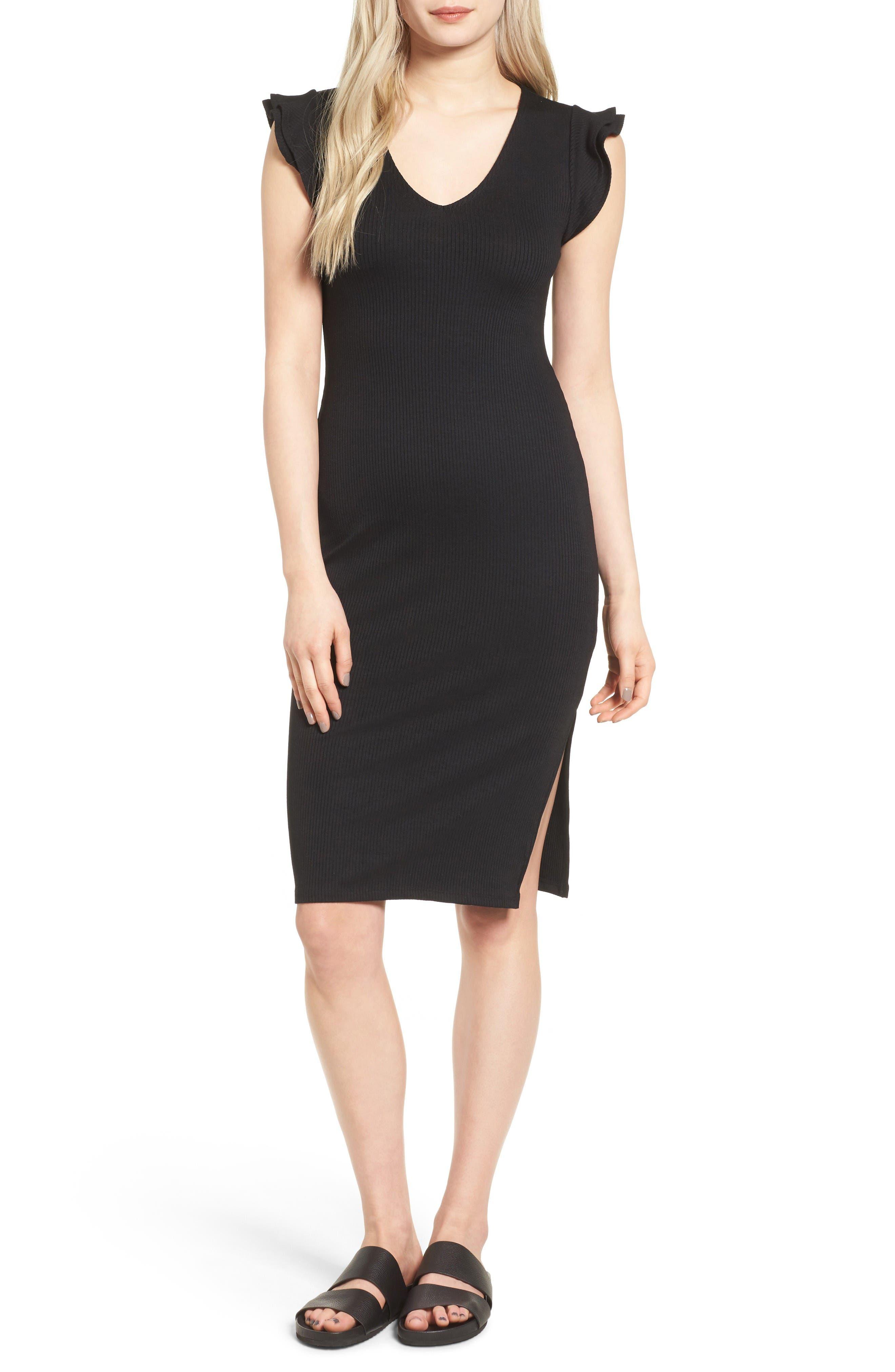 Leith Ruffle Sleeve Body-Con Dress