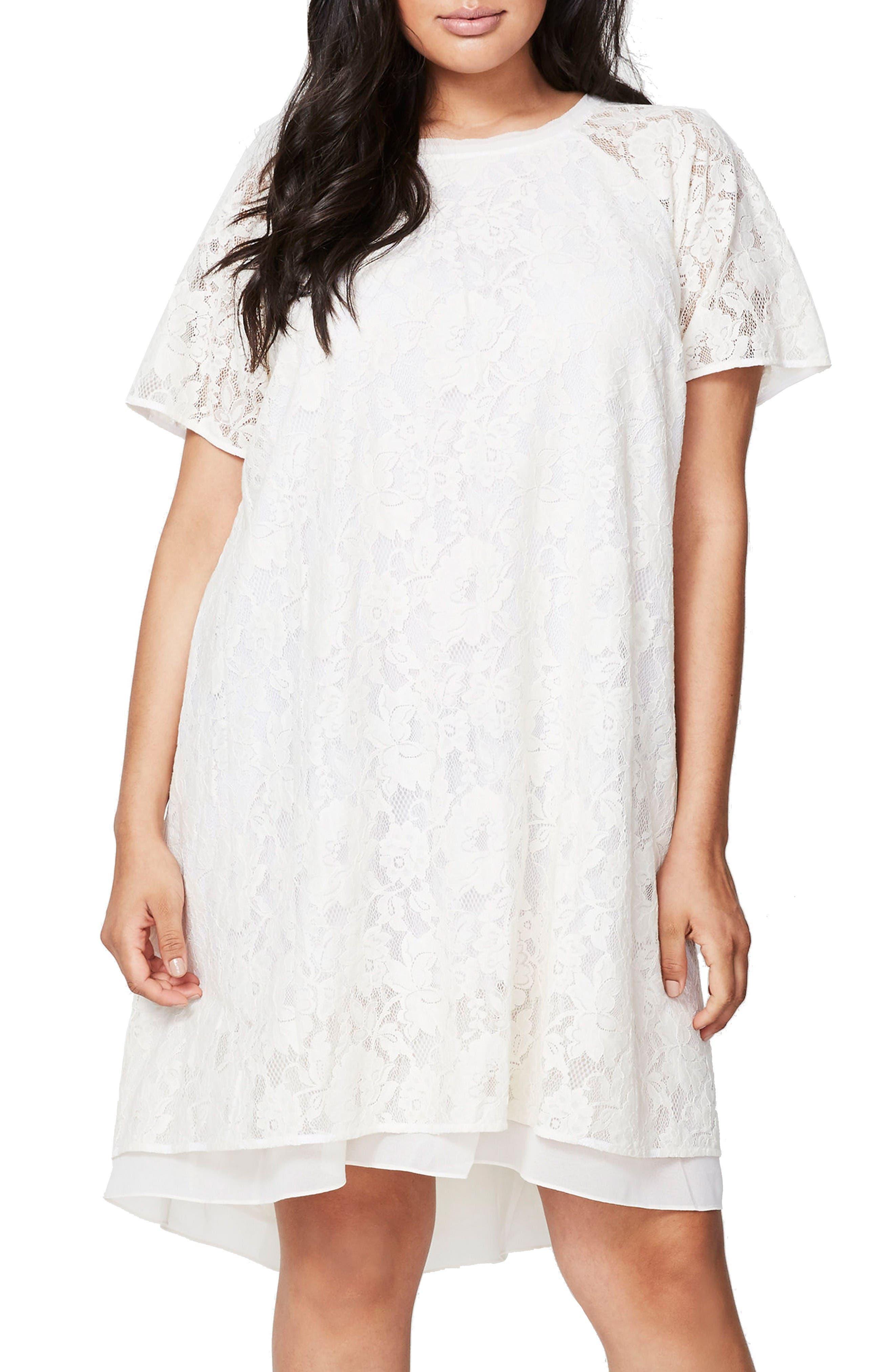 RACHEL Rachel Roy A-Line Lace Dress (Plus Size)