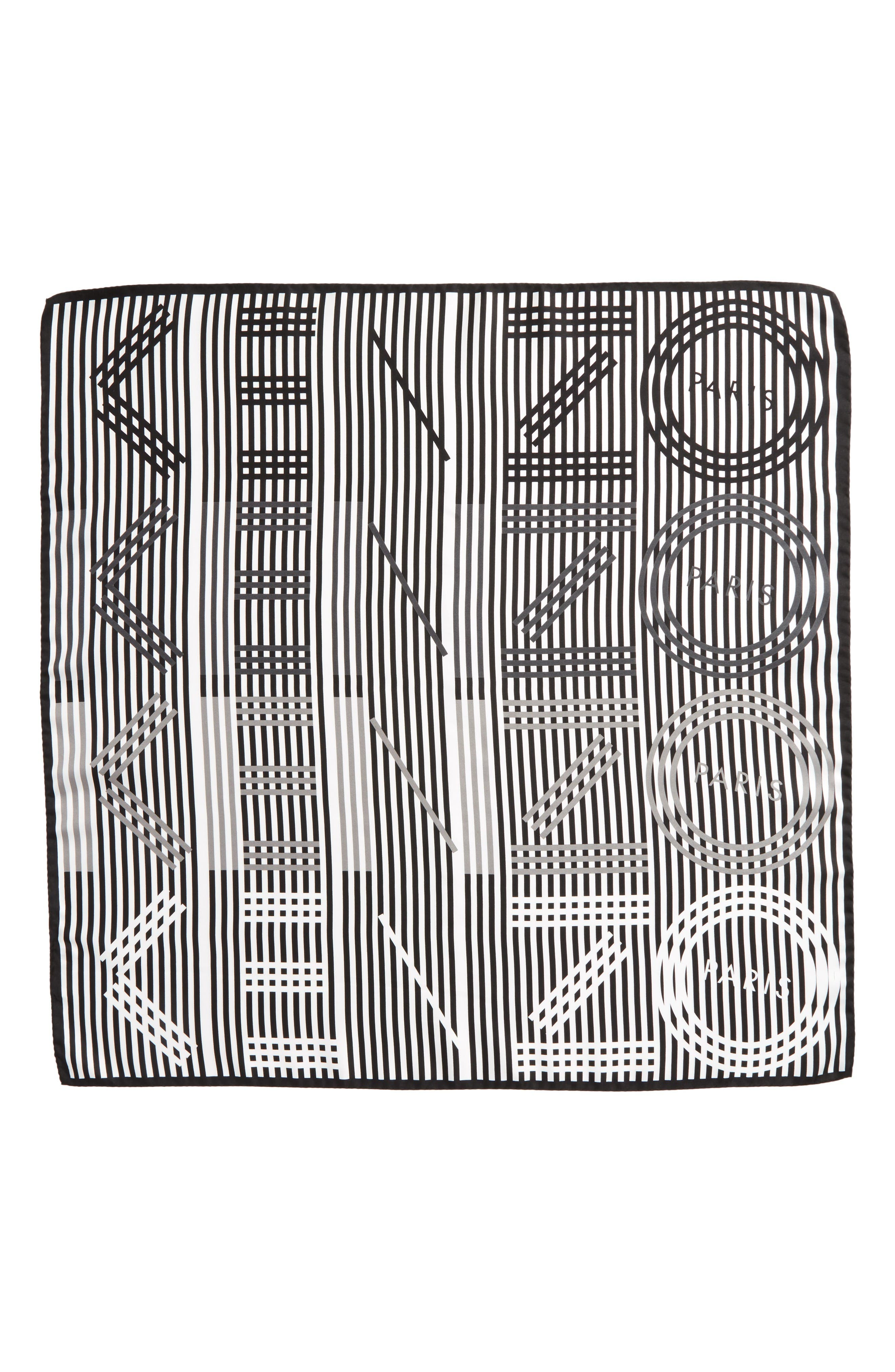 KENZO Graphic Square Silk Scarf