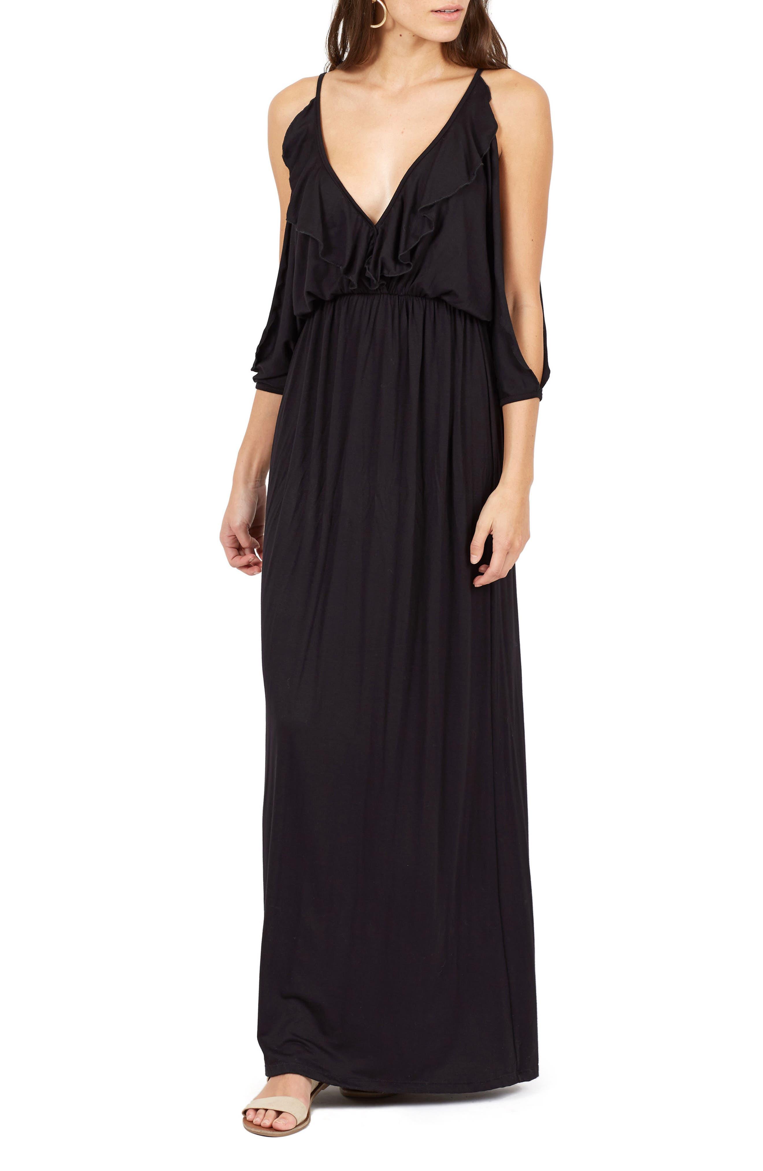 Alternate Image 1 Selected - Delacy Nia Cold Shoulder Maxi Dress