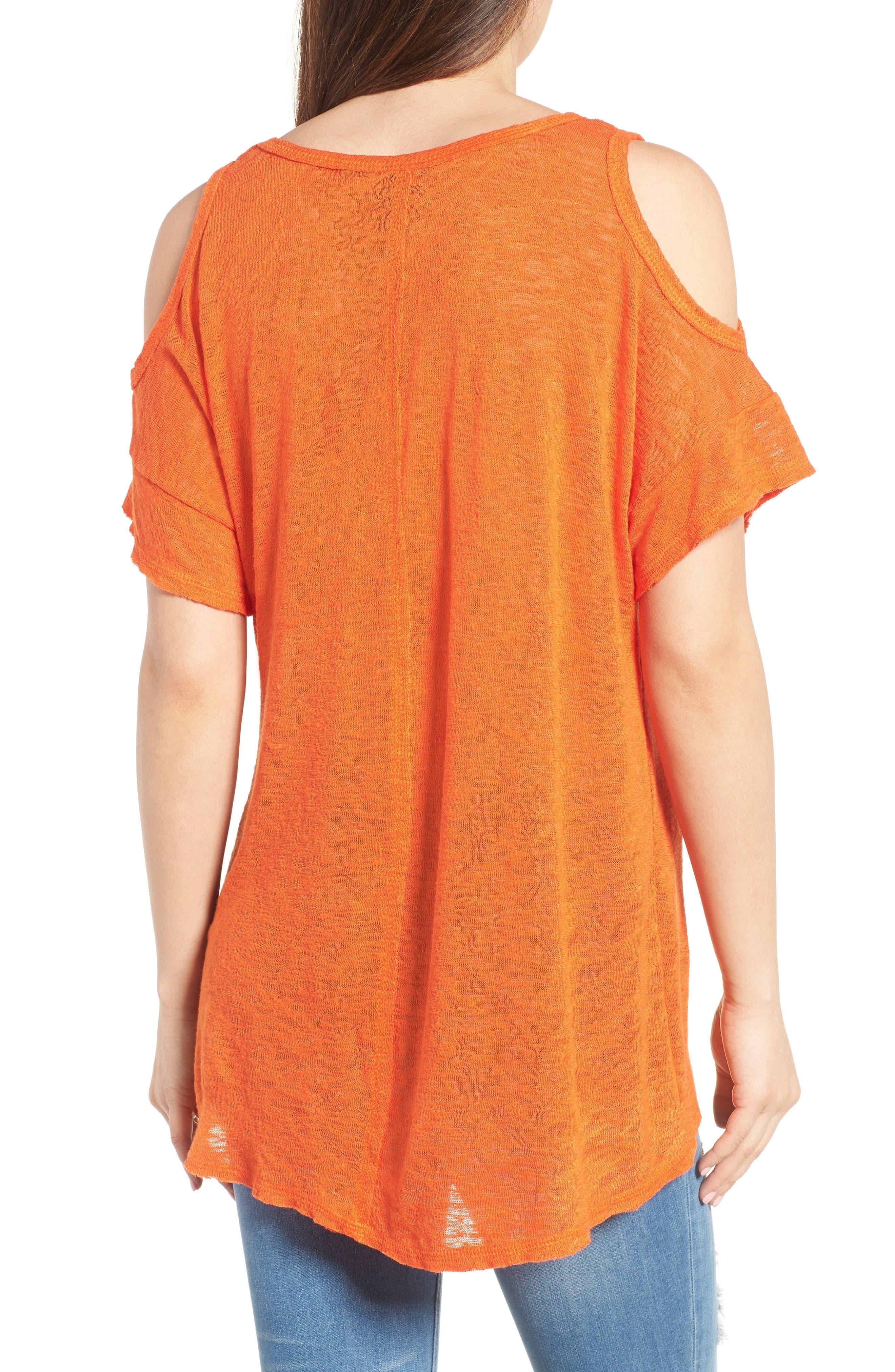 Alternate Image 2  - Bobeau Cold Shoulder Slub Knit Tee (Regular & Petite)