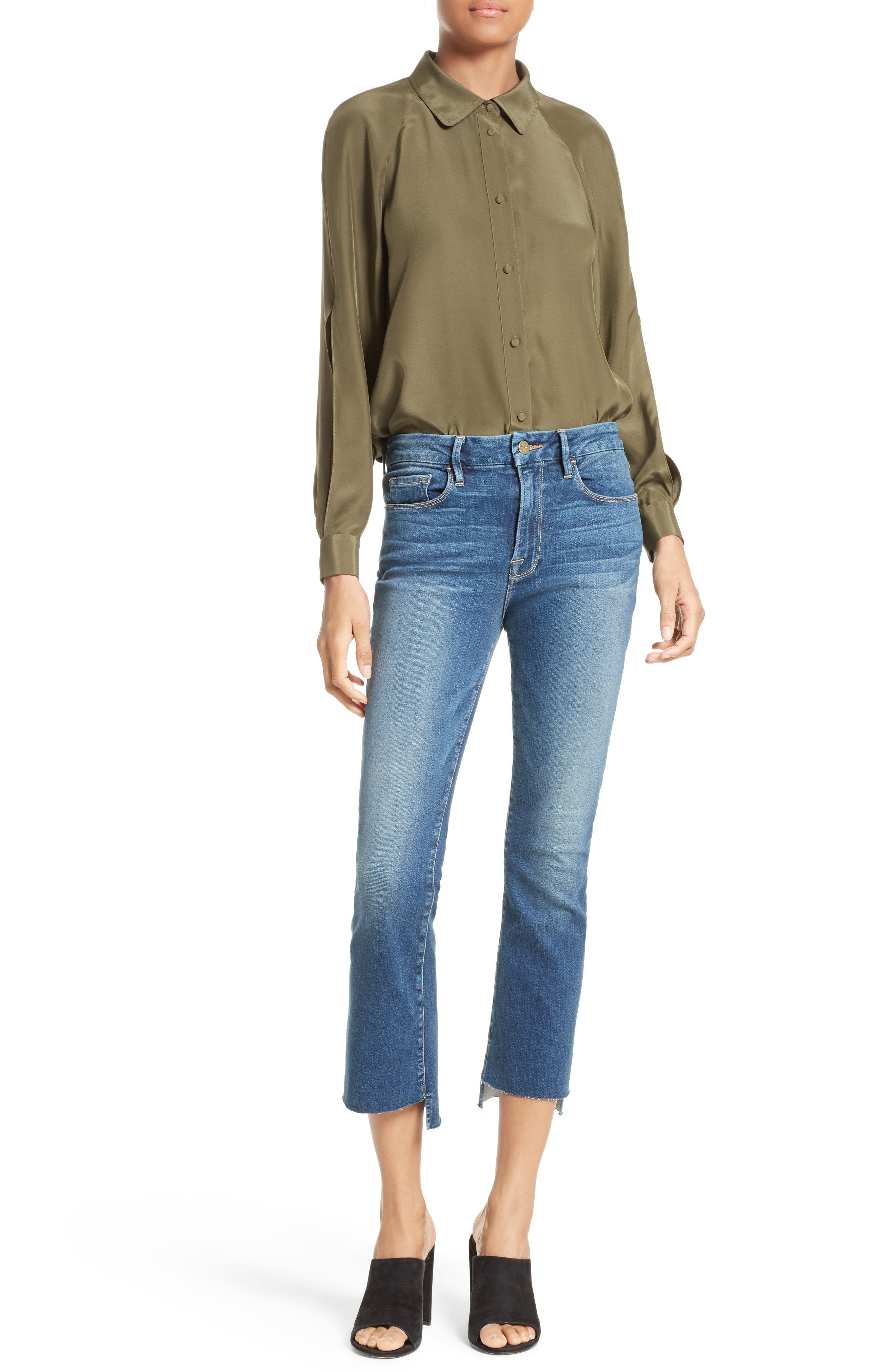 Alternate Image 6  - FRAME Le Crop Mini Boot Stagger Hem Jeans (Clifton) (Nordstrom Exclusive)