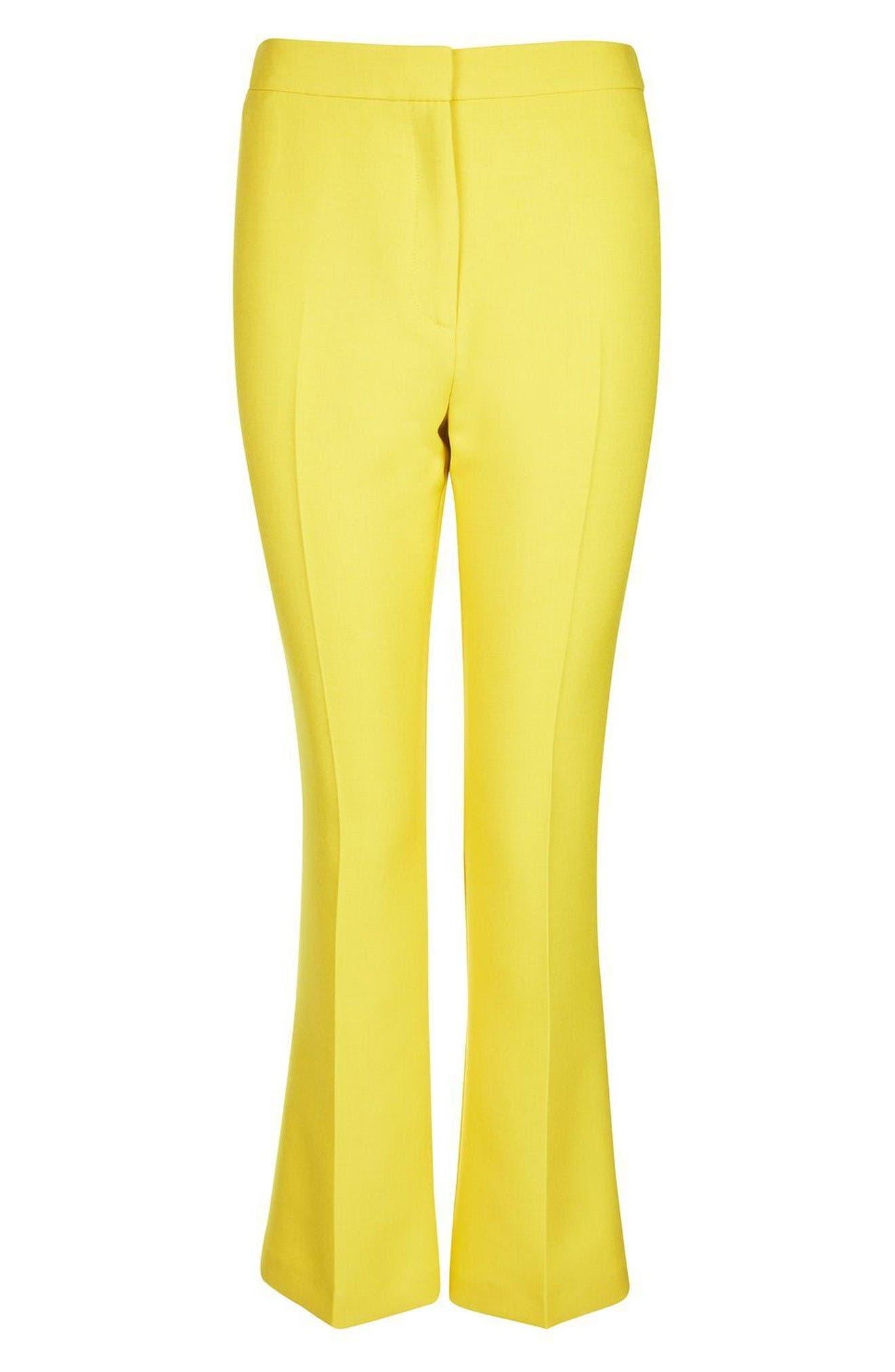 Alternate Image 4  - Topshop Crop Kick Flare Trousers