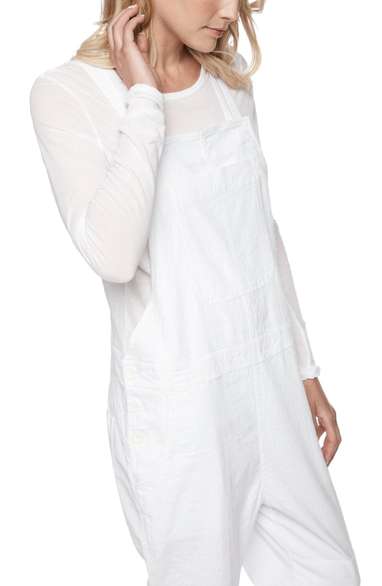 Alternate Image 3  - James Perse Cotton Linen Overalls