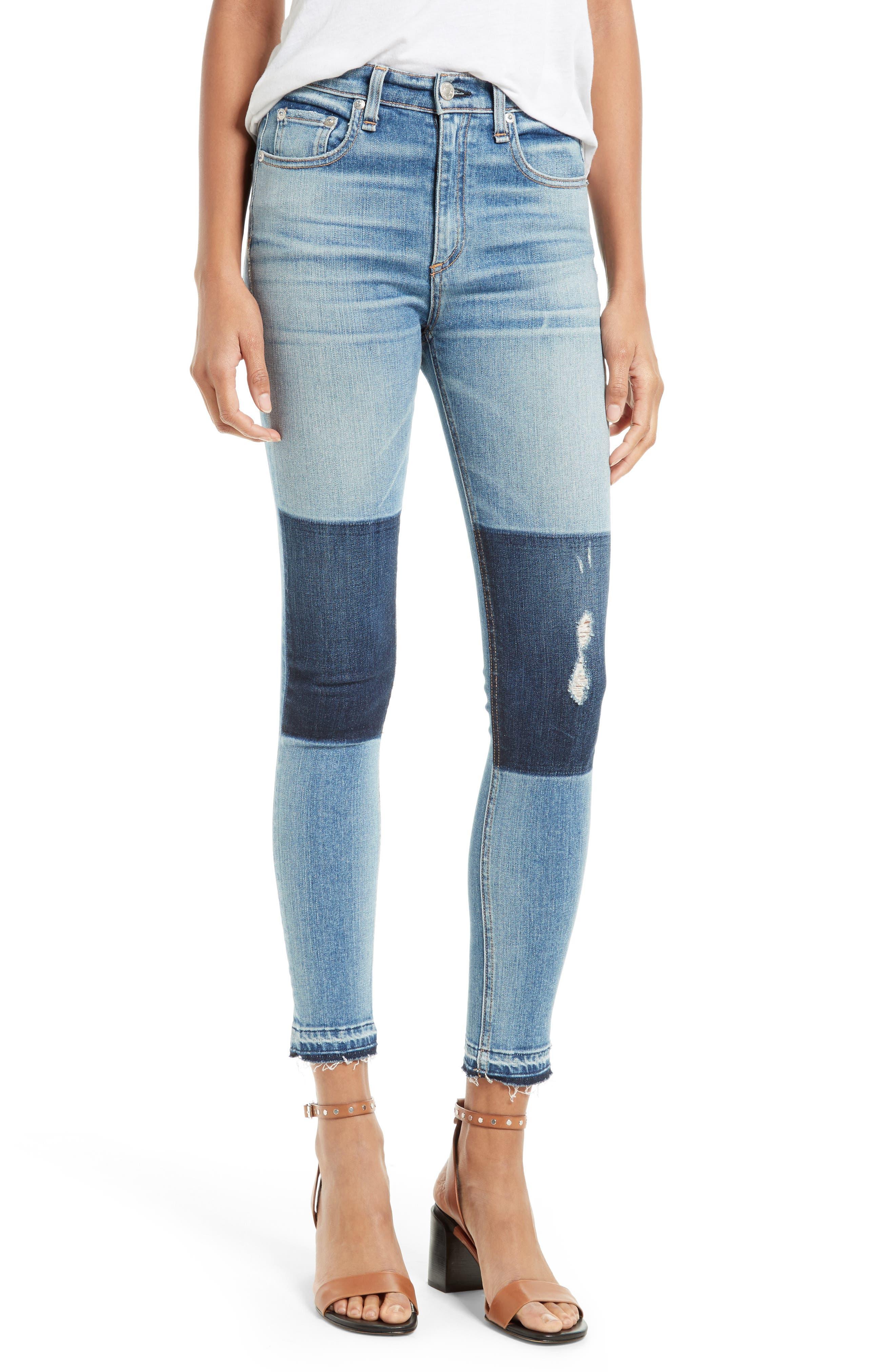rag & bone/JEAN Dive High Waist Capri Skinny Jeans (Olana)