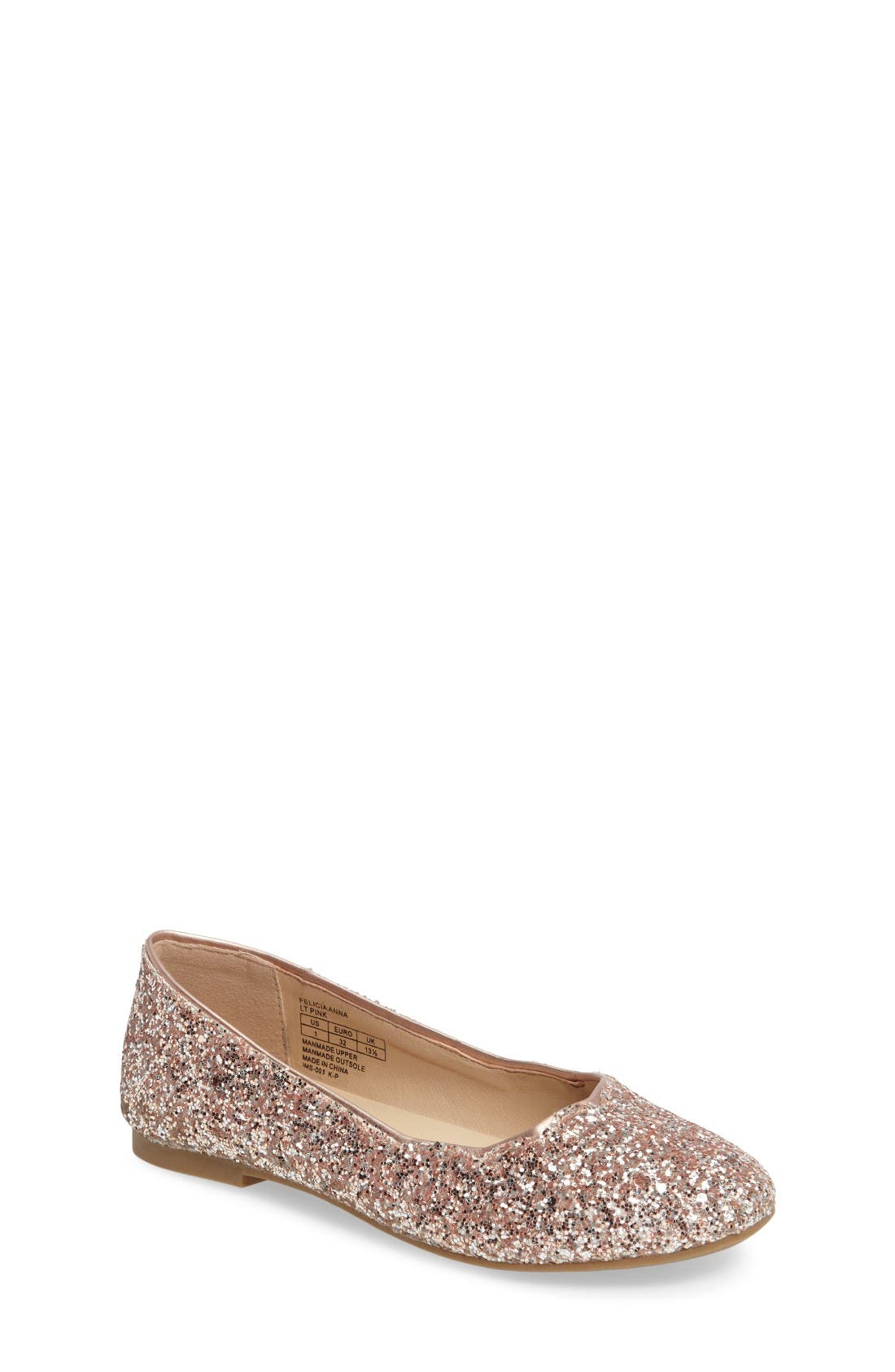 Sam Edelman Felicia Anna Glitter Ballet Flat (Toddler, Little Kid & Big Kid)
