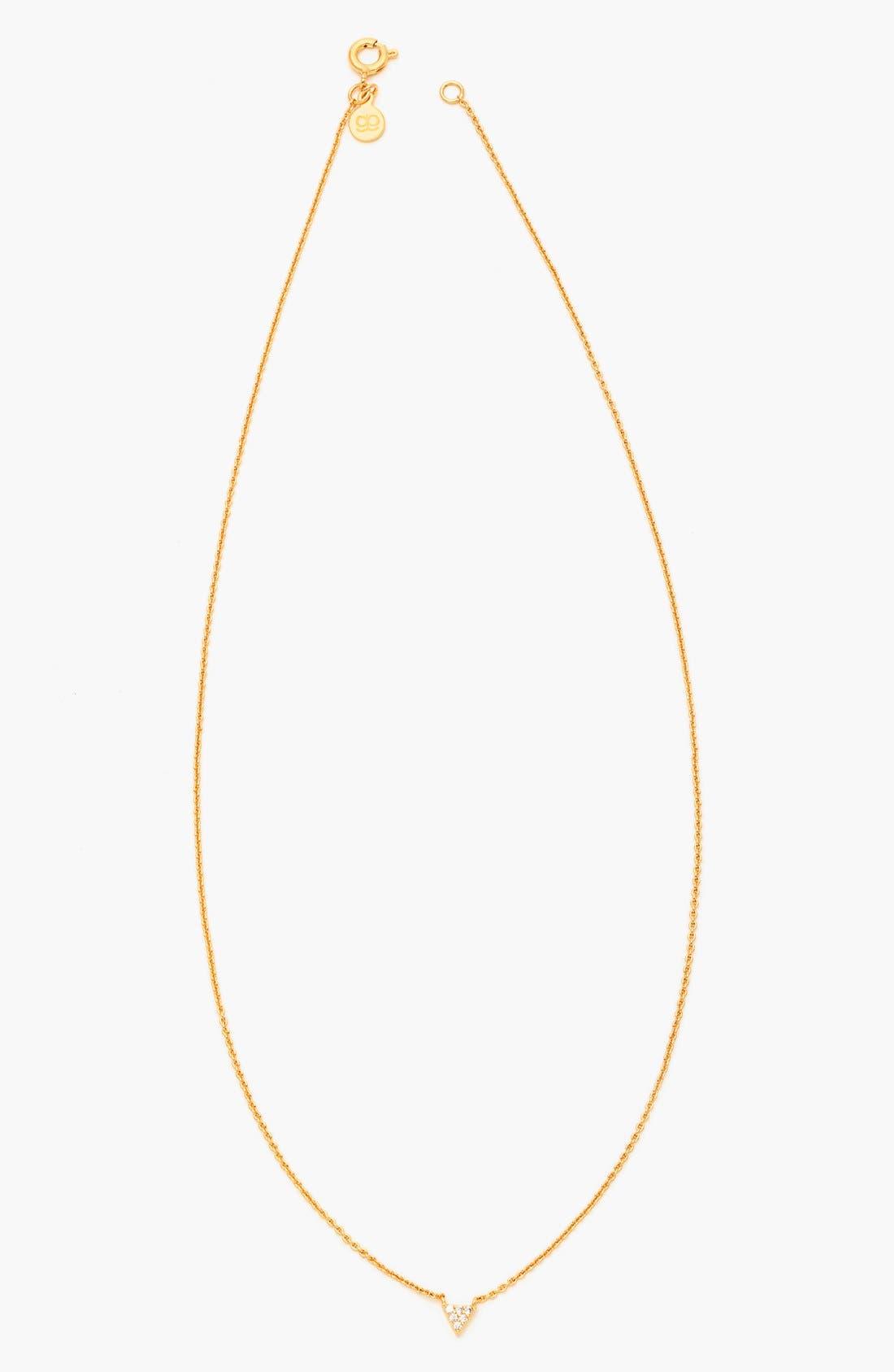 Main Image - gorjana 'Shimmer' Triangle Pendant Necklace