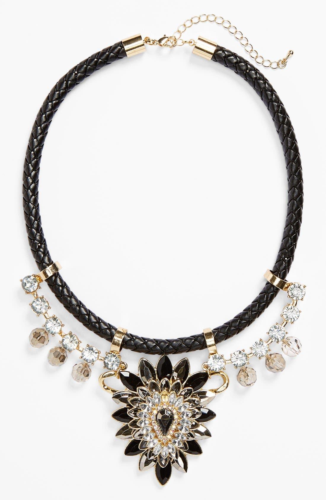 Alternate Image 2  - Topshop Plaited Rhinestone Collar