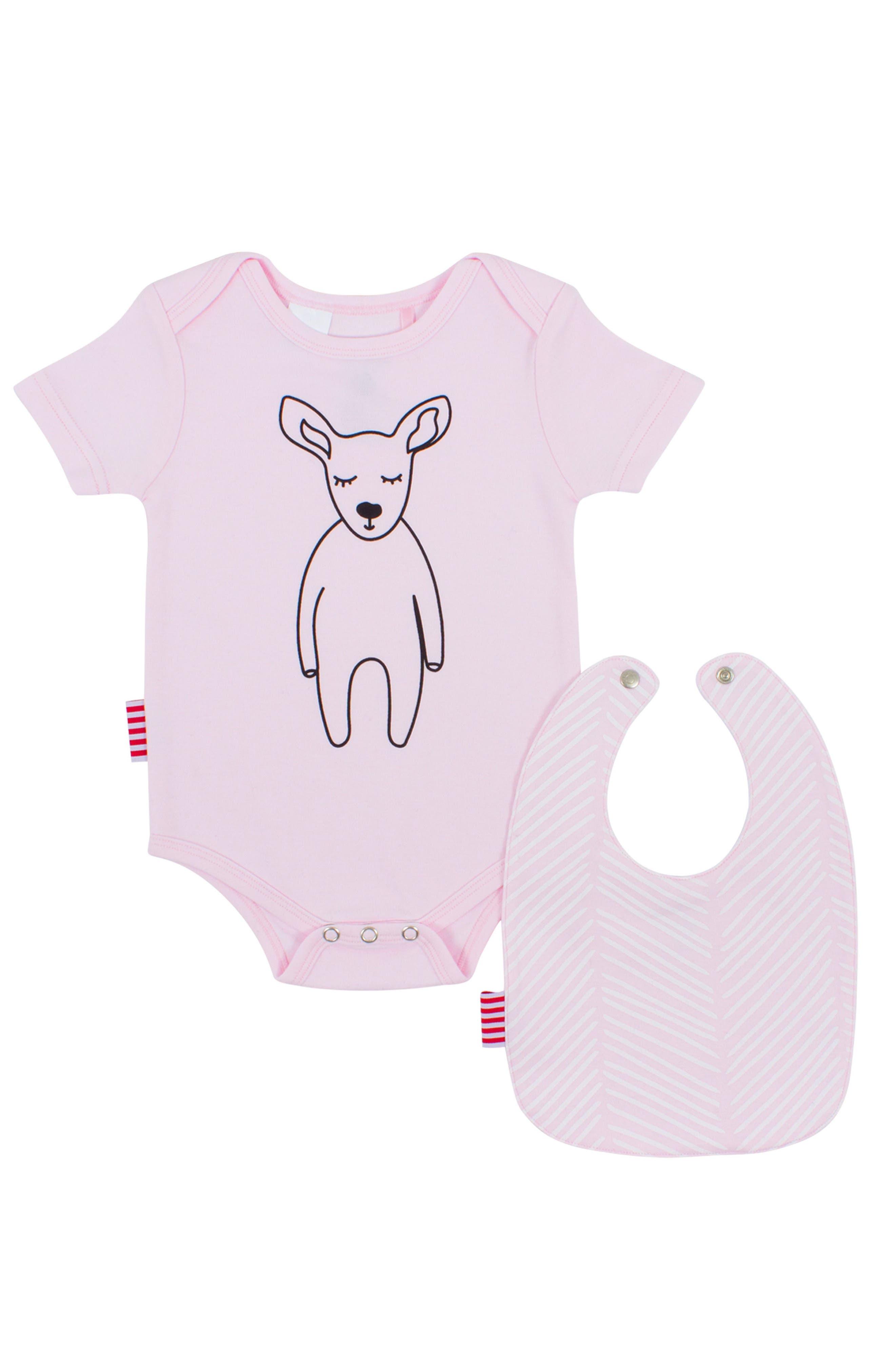 SOOKIbaby Kangaroo Bodysuit & Bib Set (Baby Girls)