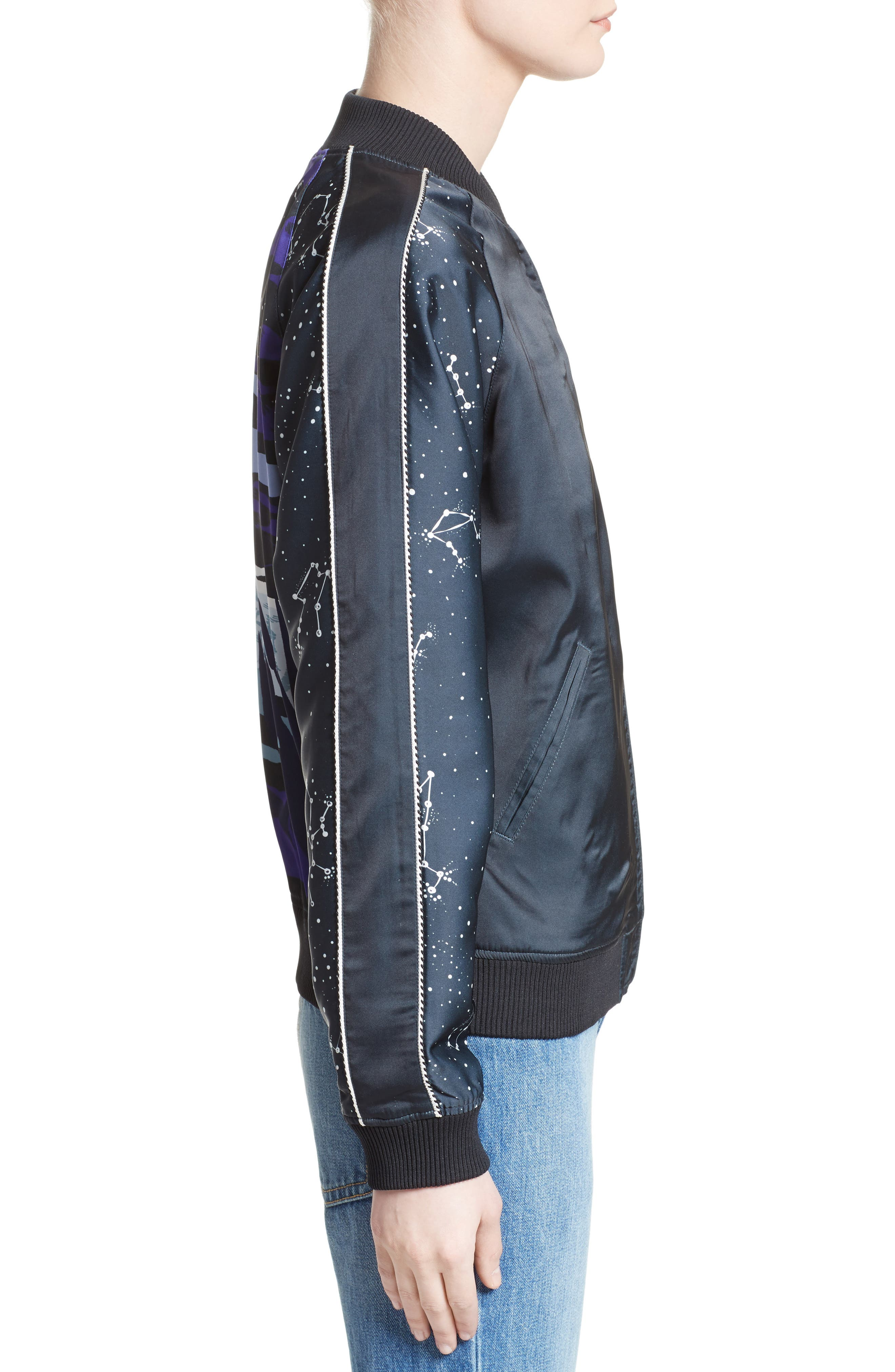 Alternate Image 5  - Opening Ceremony Night Sky Reversible Silk Bomber Jacket