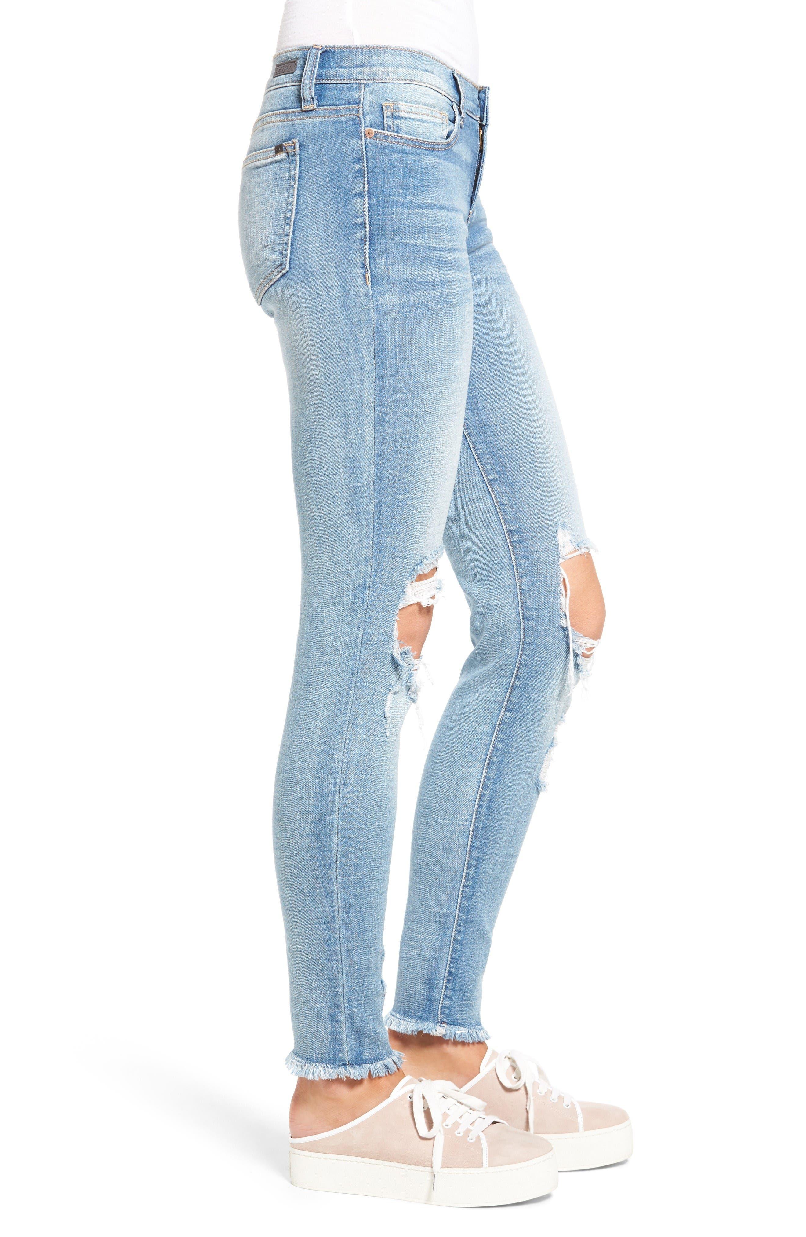 Alternate Image 3  - SP Black Ripped Knee Skinny Jeans