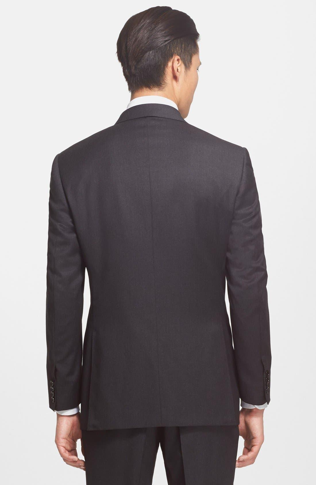 Alternate Image 4  - Canali Trim Fit Wool Suit