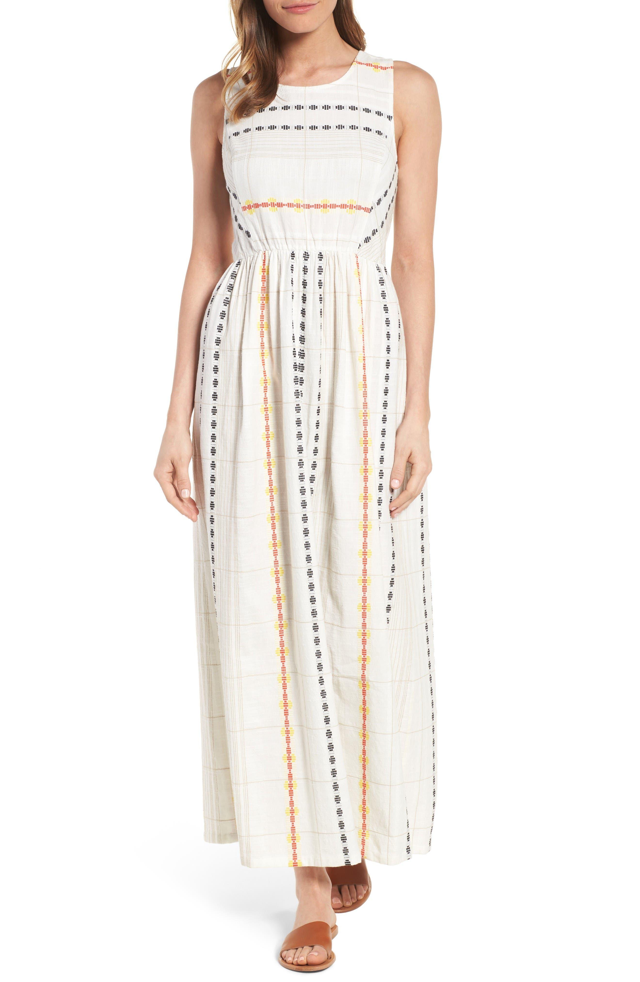 Caslon® Cotton Maxi Dress (Regular & Petite)