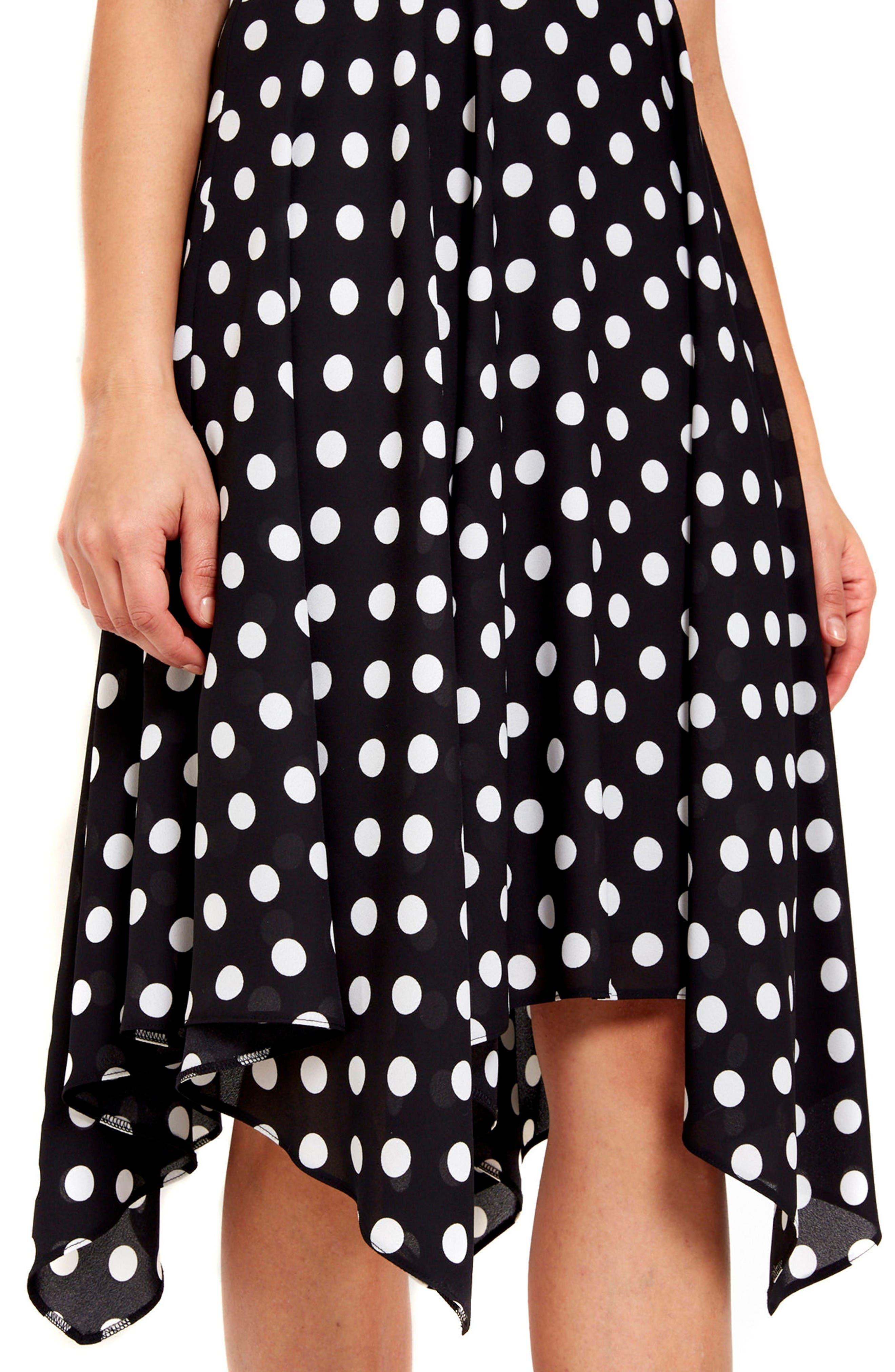 Alternate Image 3  - Wallis Dot Print Handkerchief Hem Dress