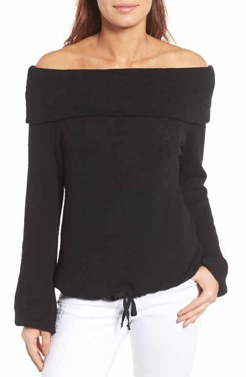 Caslon® Convertible Off the Shoulder Pullover (Regular   Petite)