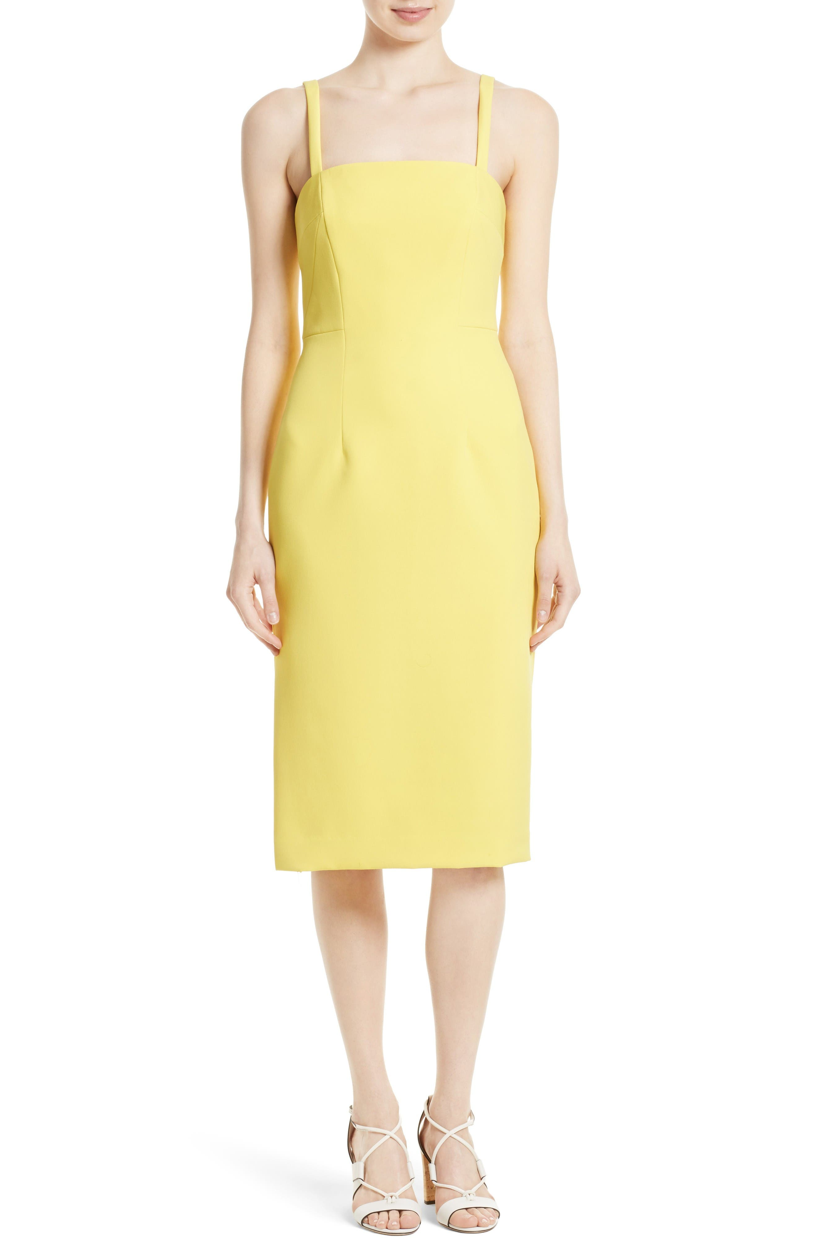 Milly Elle Stretch Crepe Sheath Dress