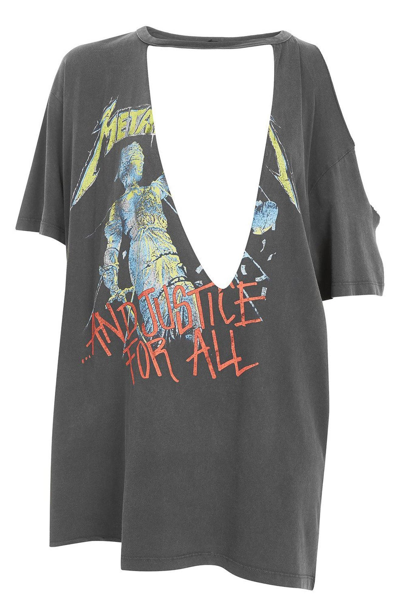Alternate Image 4  - Topshop by And Finally Slashed Metallica Tee