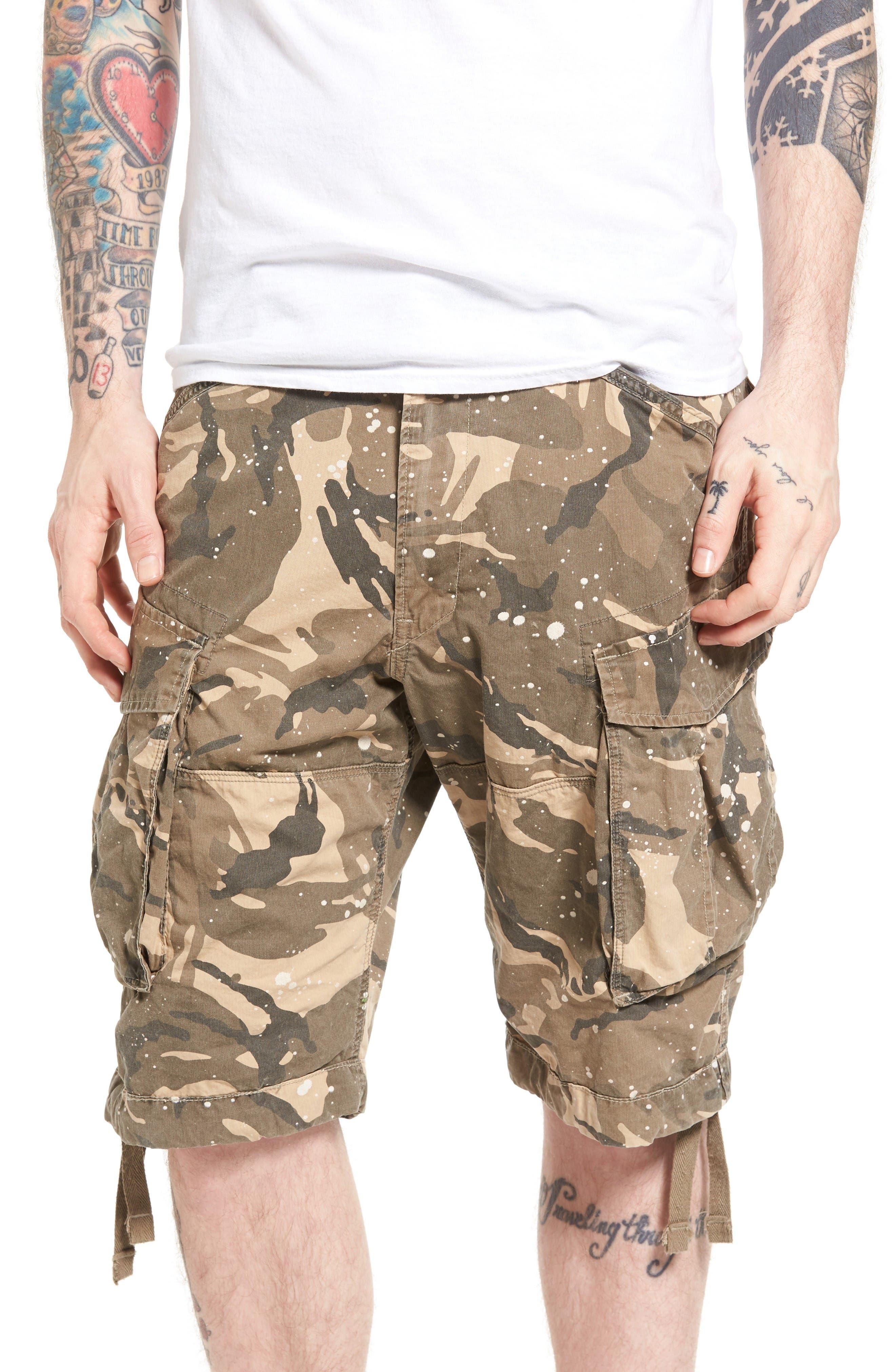 G-Star Raw Rovic Loose Camo Cargo Shorts