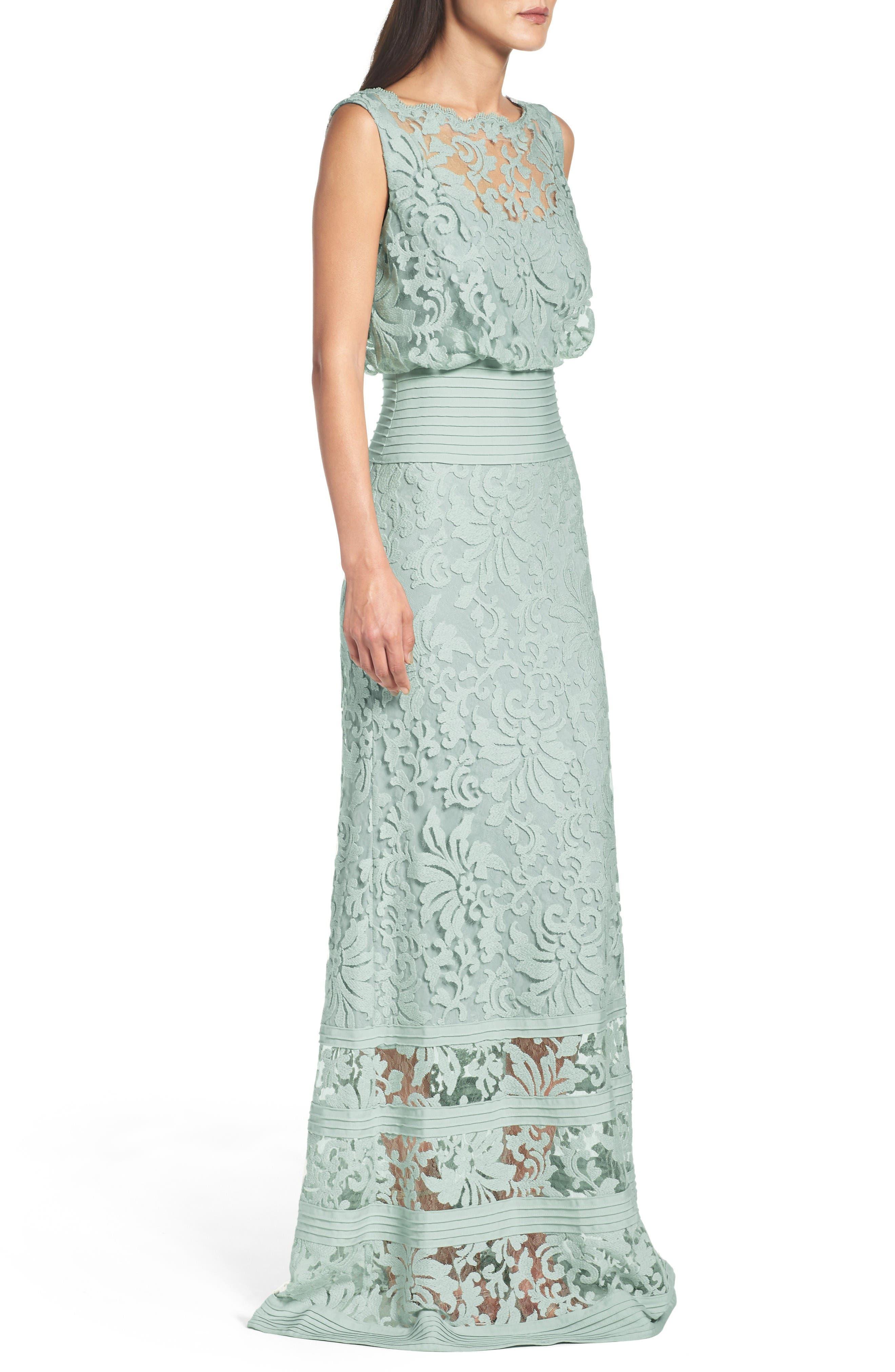 Alternate Image 3  - Tadashi Shoji Blouson Gown
