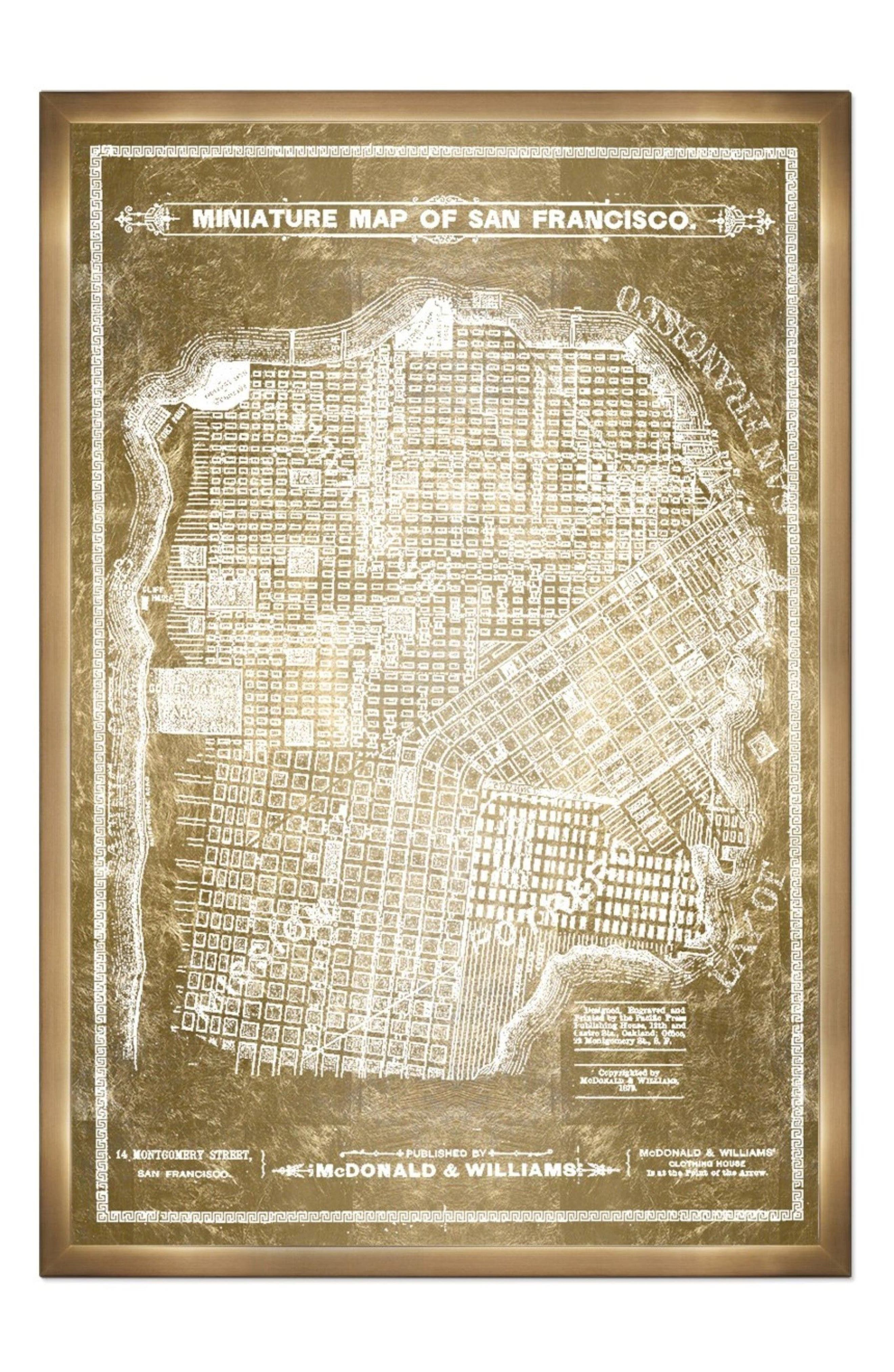 Oliver Gal San Francisco Map Canvas Wall Art