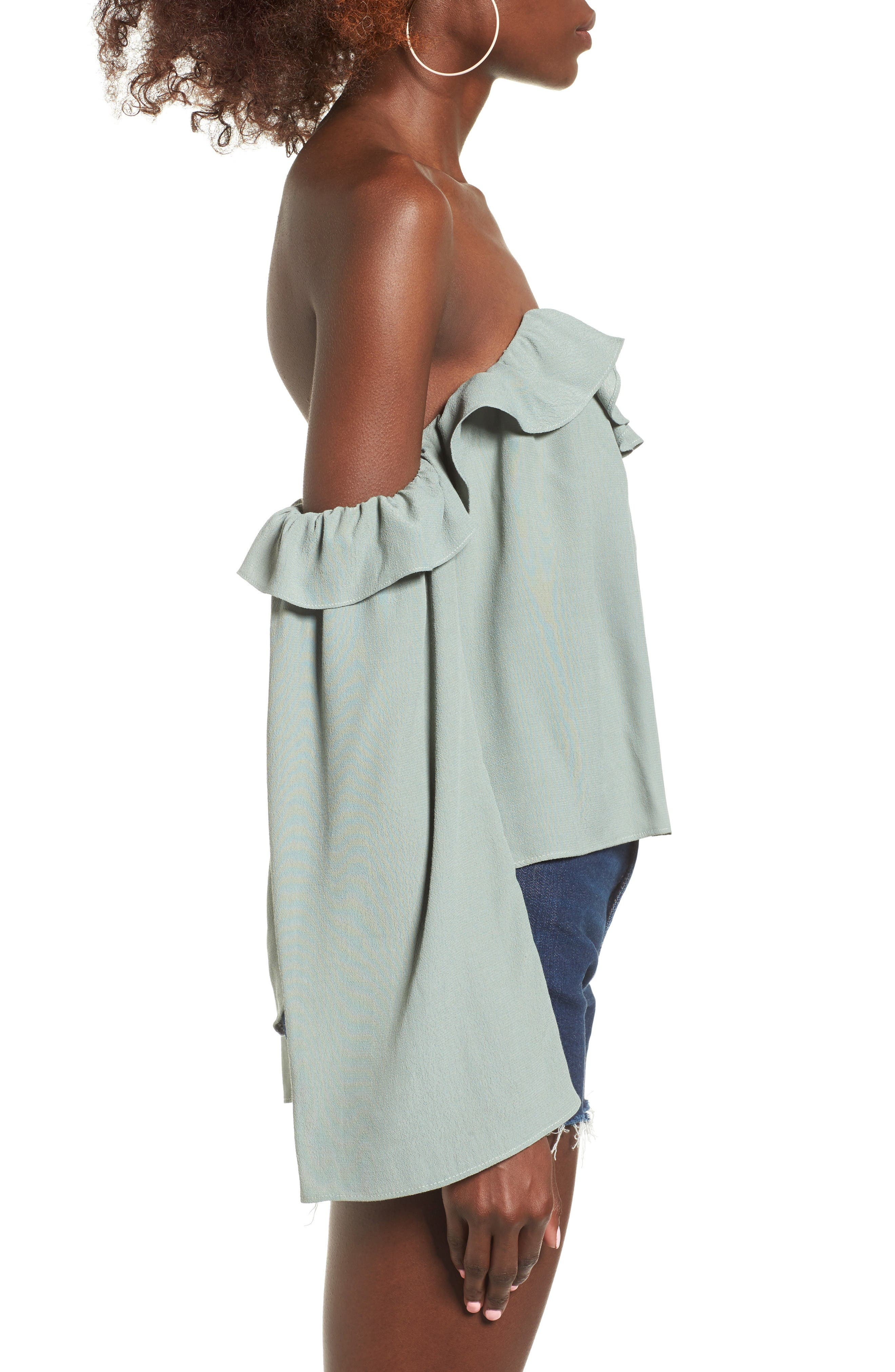 Alternate Image 3  - 4SI3NNA Ruffle Off the Shoulder Blouse
