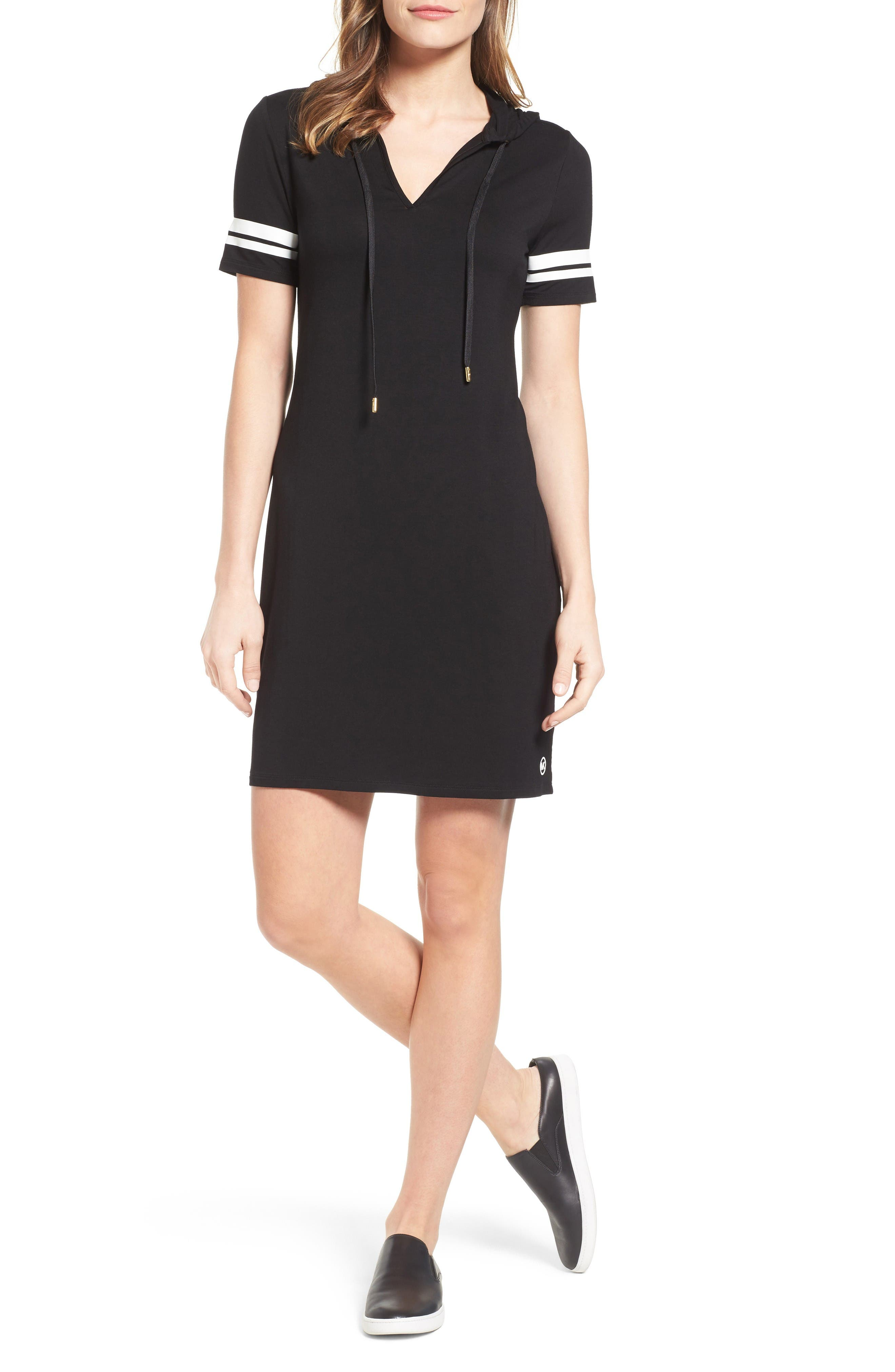 MICHAEL Michael Kors Hooded T-Shirt Dress (Regular & Petite)