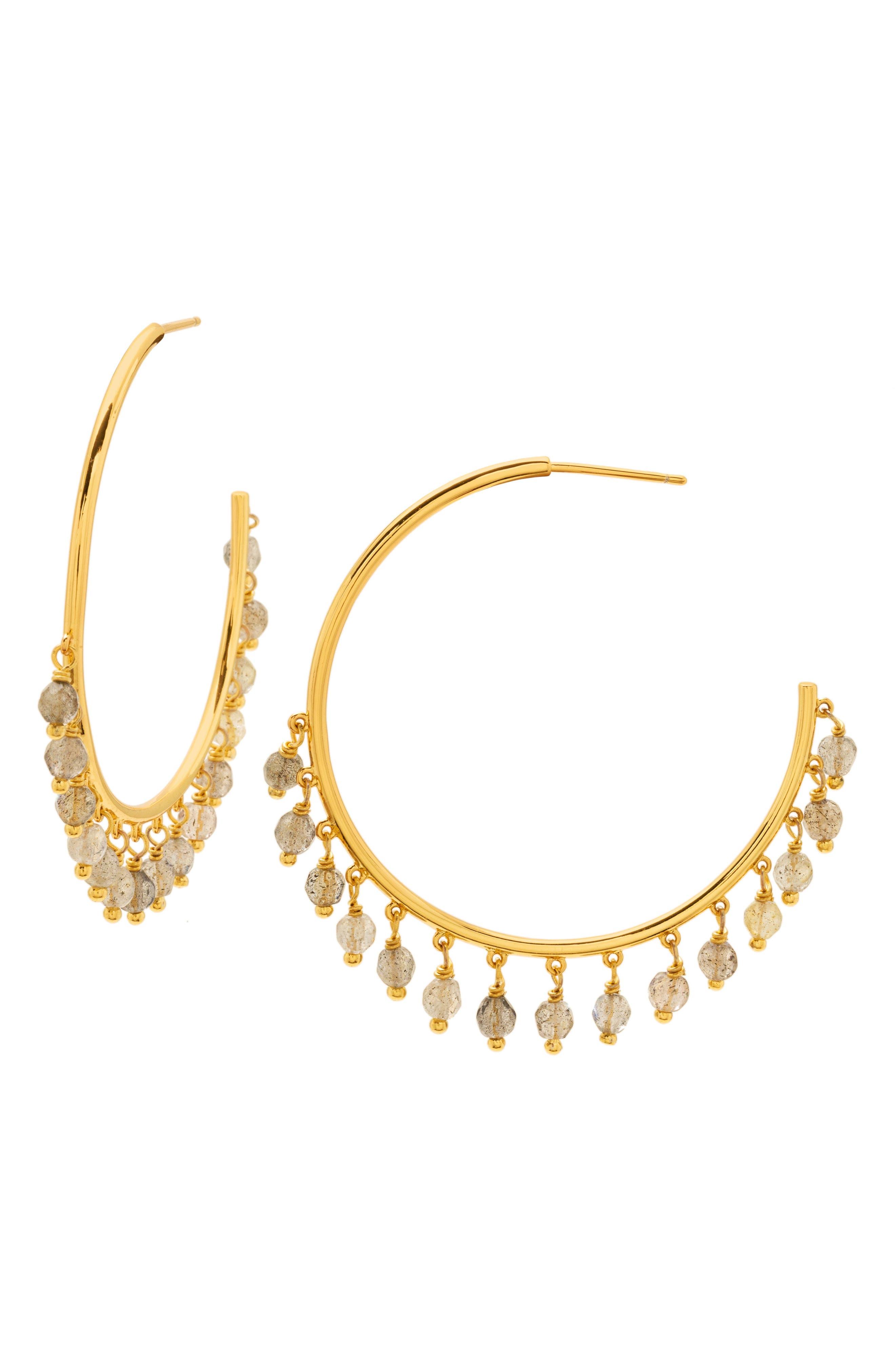 gorjana Sol Charm Hoop Earrings