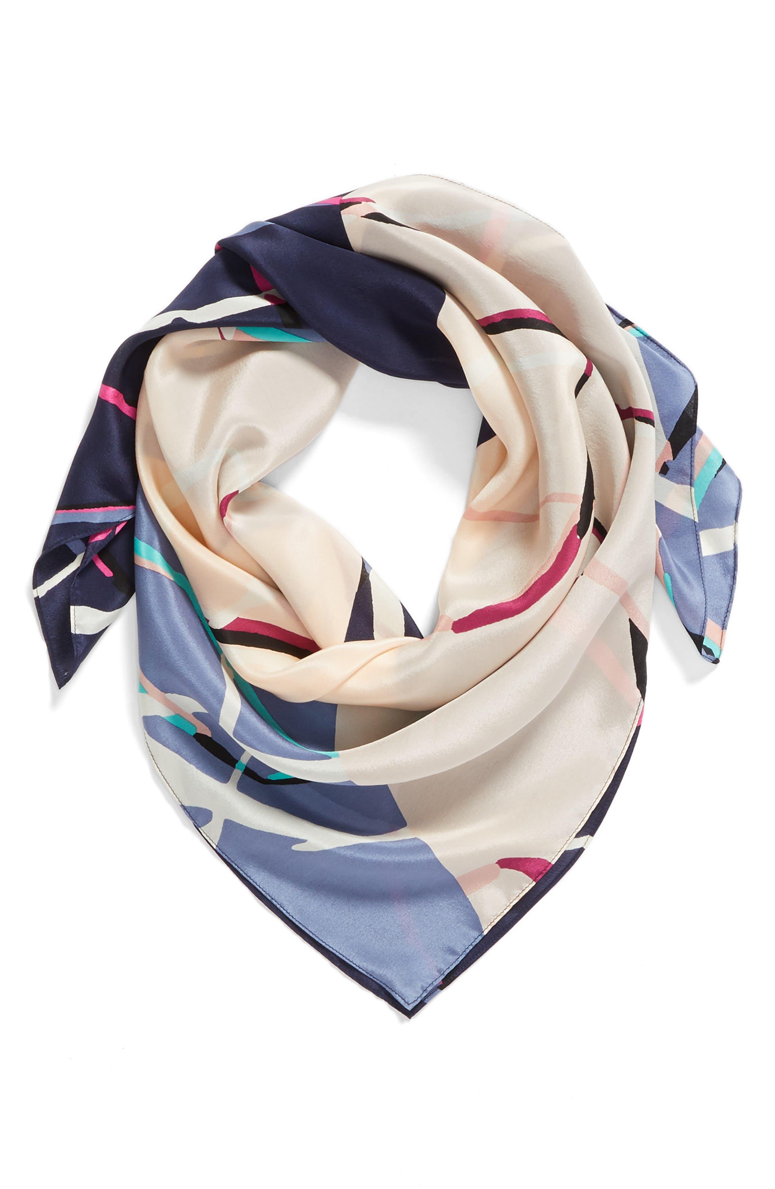 Halogen Ring Geometric Silk Square Scarf