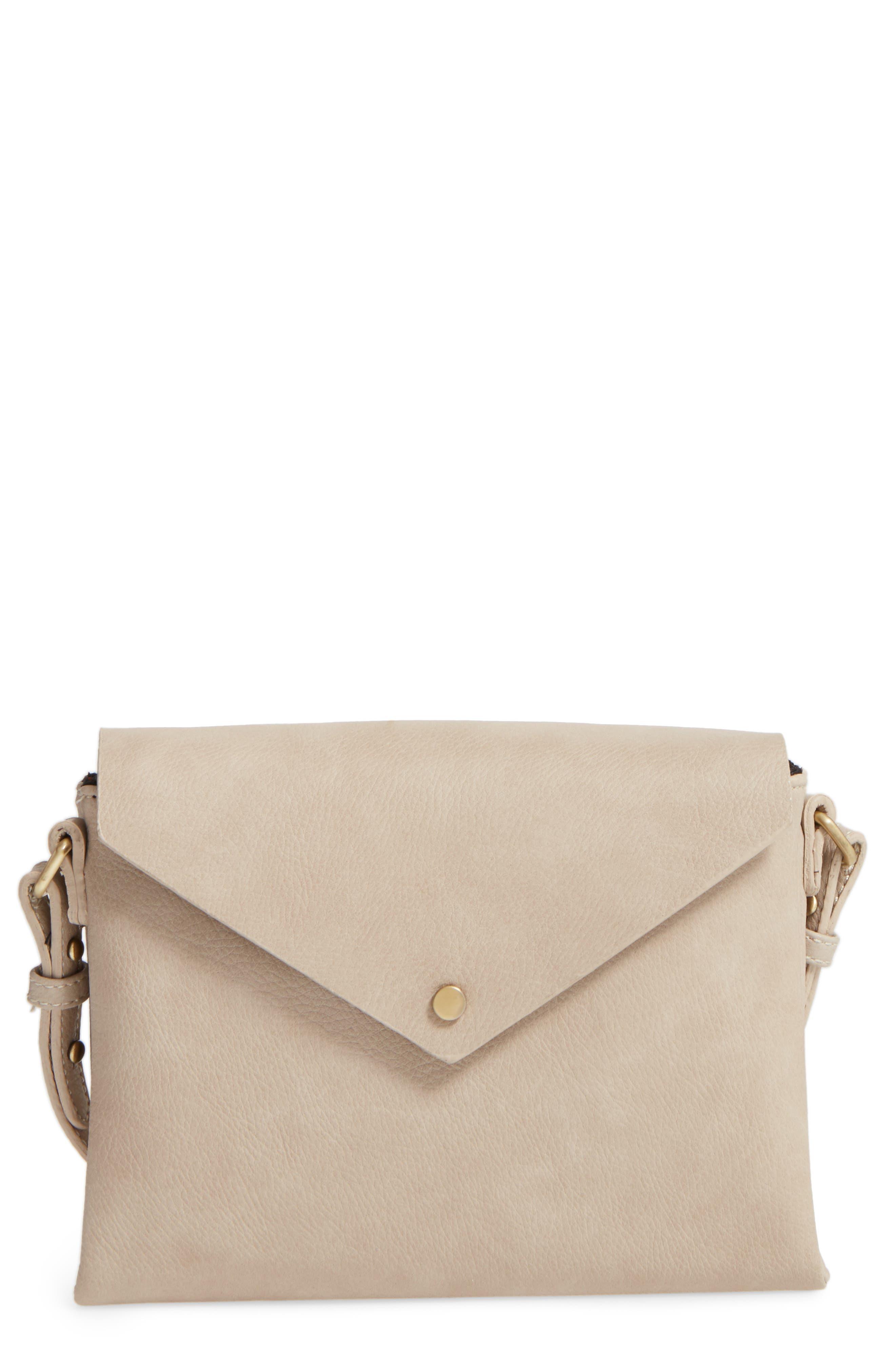 Alternate Image 1 Selected - Street Level Faux Leather Envelope Crossbody Bag