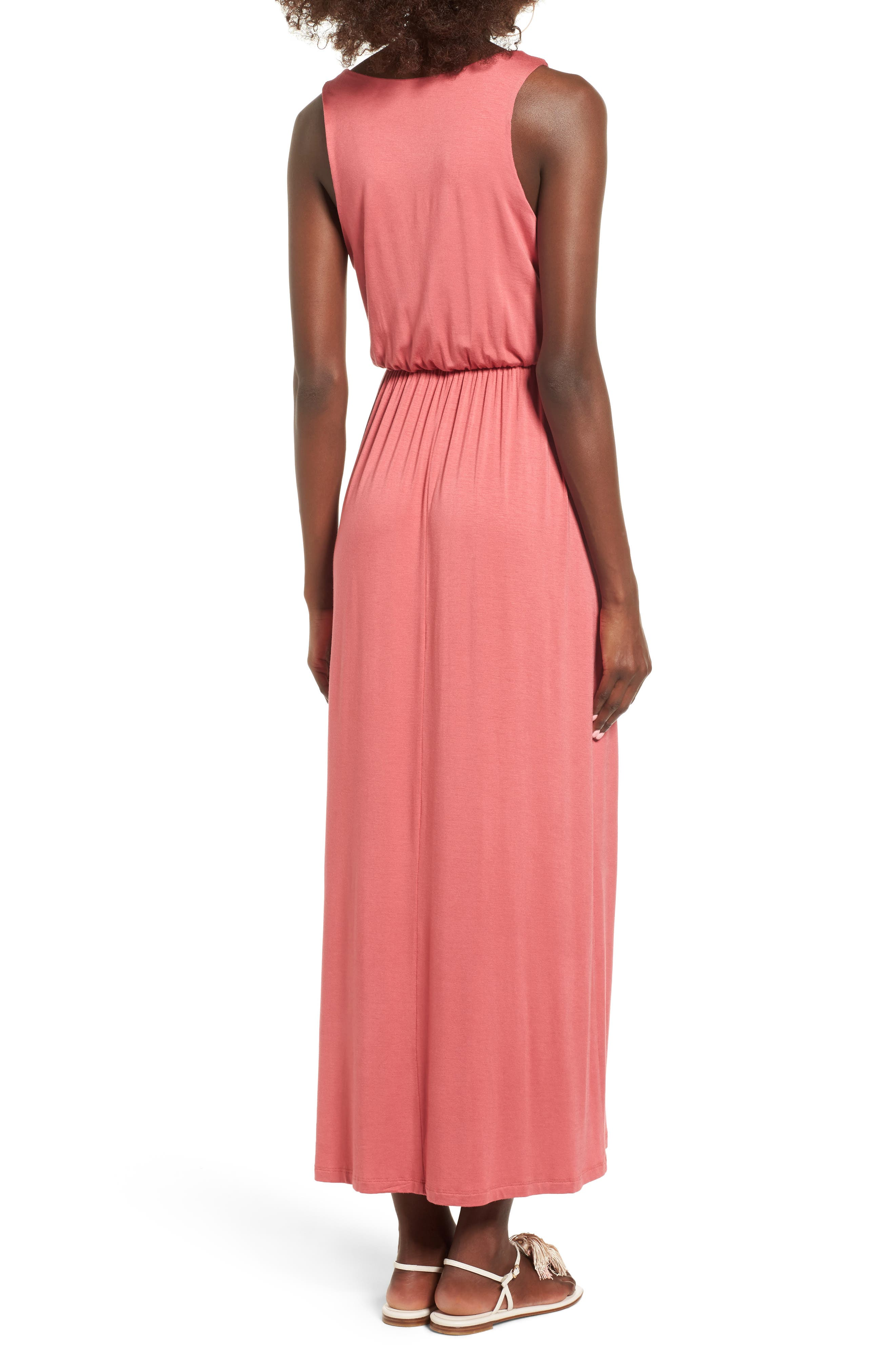 Alternate Image 2  - Lush Cross Front Maxi Dress